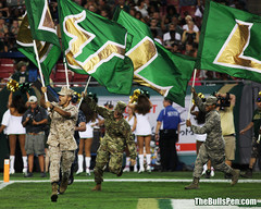Military Runs Bulls Flags