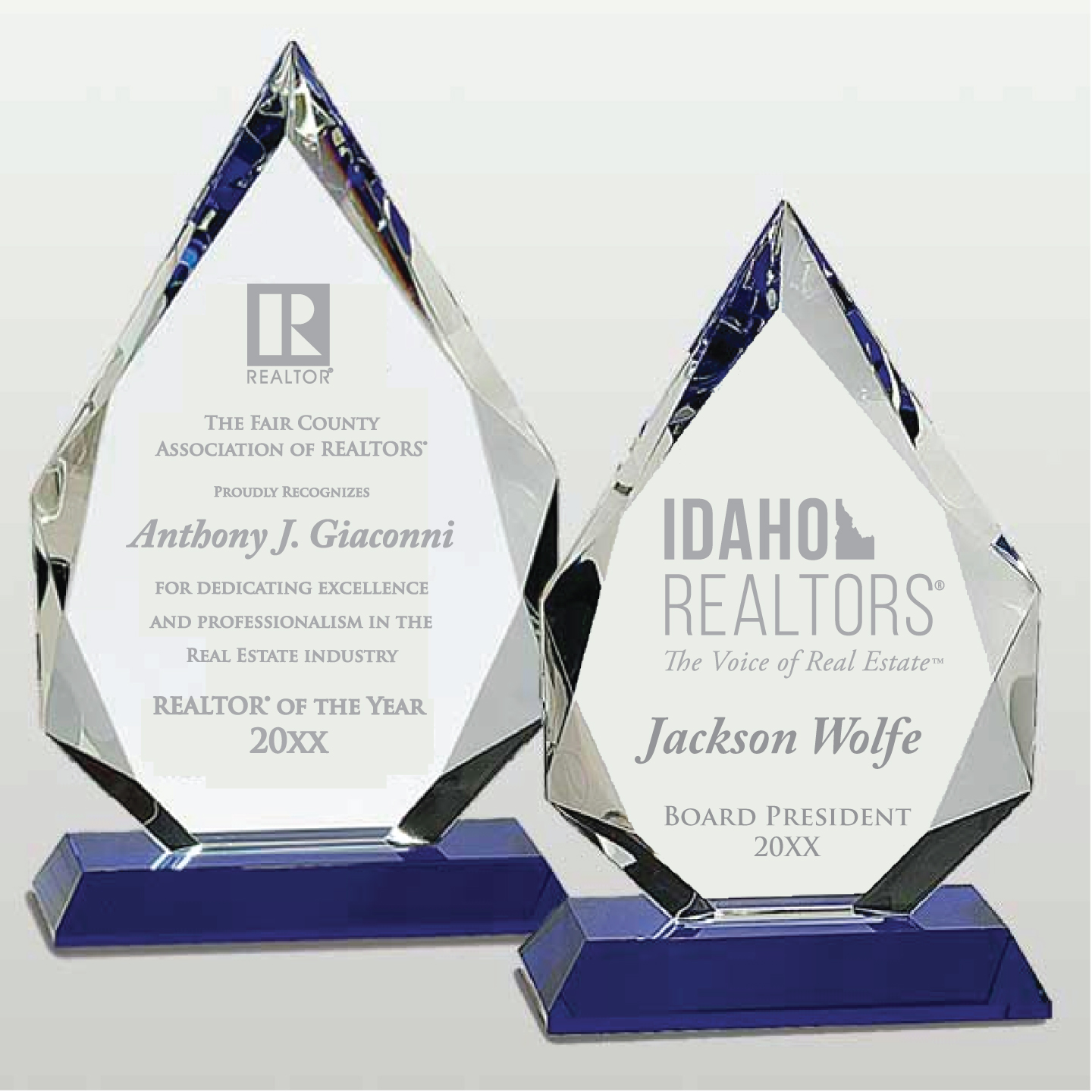 Crystal Diamond on Pedastal Awards,Award,Plaque,Plaques,Crystal,Glass