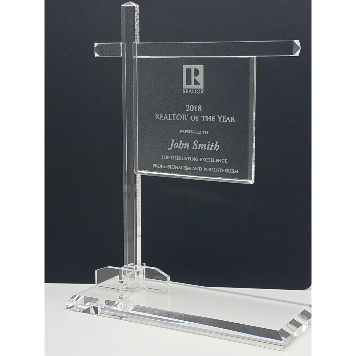 Crystal Sold Yard Sign Award Awards,Award,Plaque,Plaques,Crystal,Glass,Solds,Signs,Yards