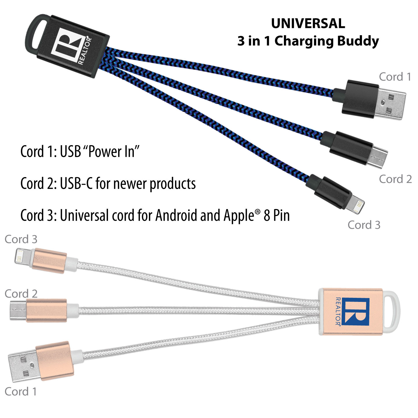 Braided Charging Cord 3 in 1 charging, Charging Cord, USB, Apple, battery, Gift, Give away, Phone, Tech, Auto