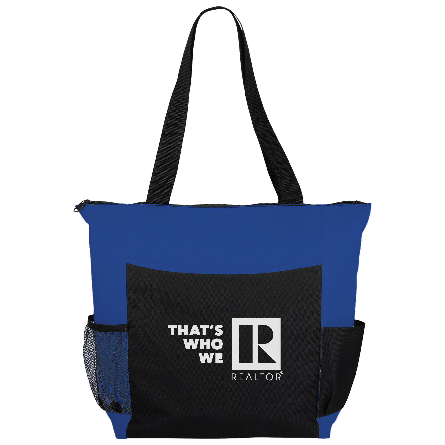 """That's Who We R"" Canvas Bag with Zipper Closure & Bottle Holder twwr,ThatsWhoWeR,That's,TWWR,ThatWho,That'sWho,Twwr,Thats,Whos,We,Ares,RTS4002,Totes,Bags,Straps,Satchels,Slings,"