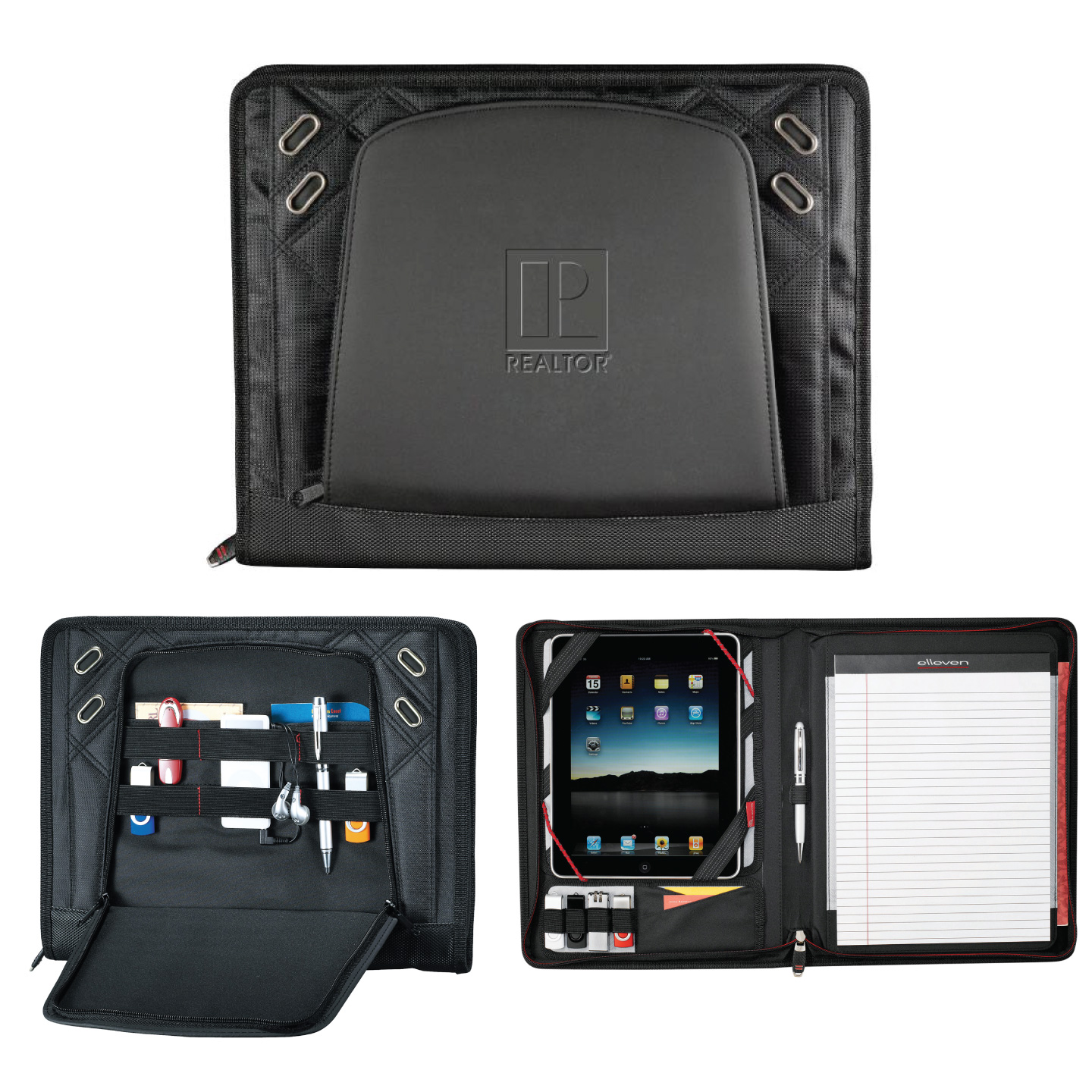 elleven™ TechTrap Organizer Journal, Organizer, Padfolio, Pen, President. Gift, Notebook, iPad, Tablet, Tech, Board, Association