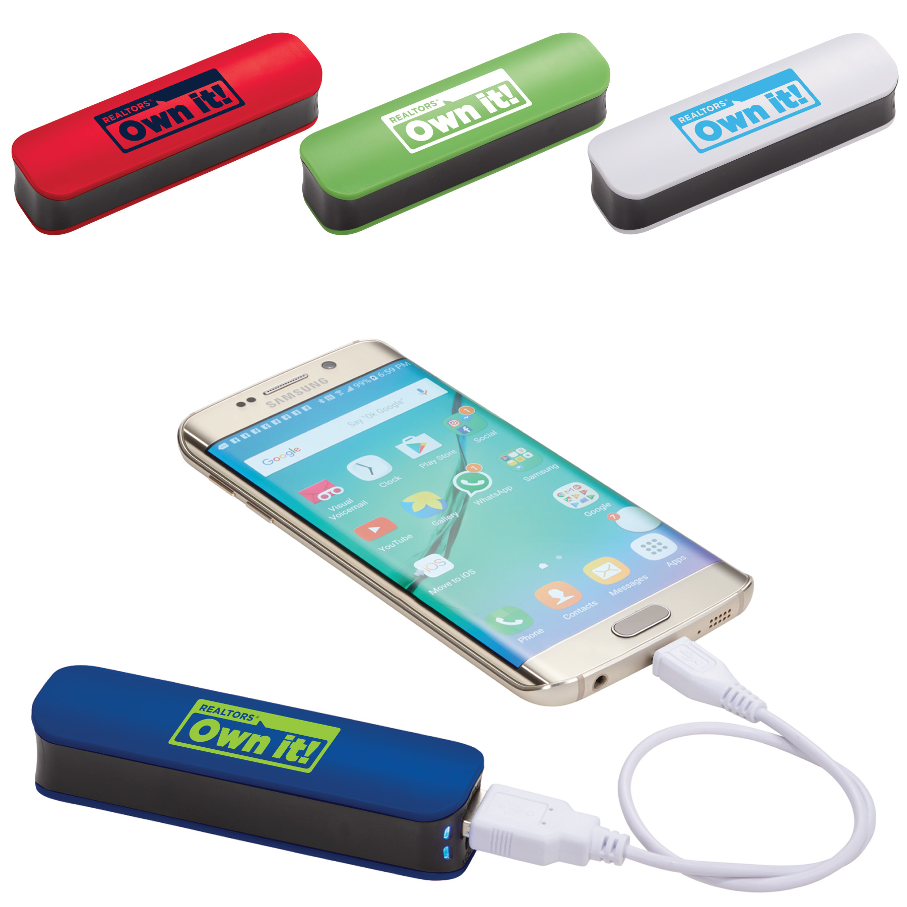 Hannen REALTORS® Own It! Power Bank (Special Order) Chargers,Powers,Banks,Batterys,Batteries,Jumps,Charges,Phones,iphones,Cords