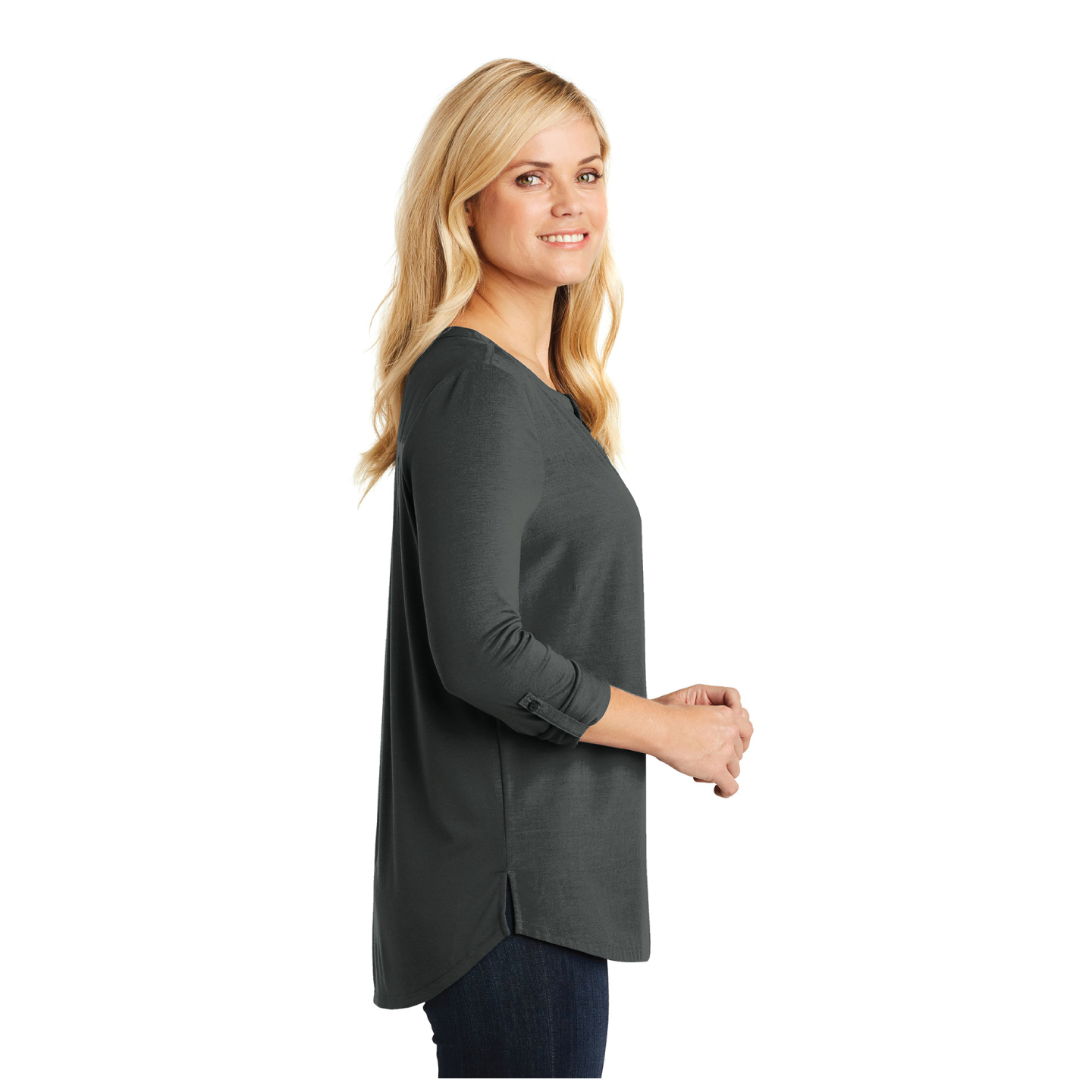 Ladies Henley Tunic - RCL4097
