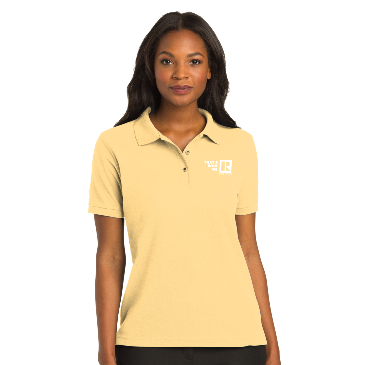 """Thats Who We R"" Ladies Pique Polo Shirt Twwr,Thats,Whos,We,Area,Golfs, Shirts, Collared, Polos, Plackets"