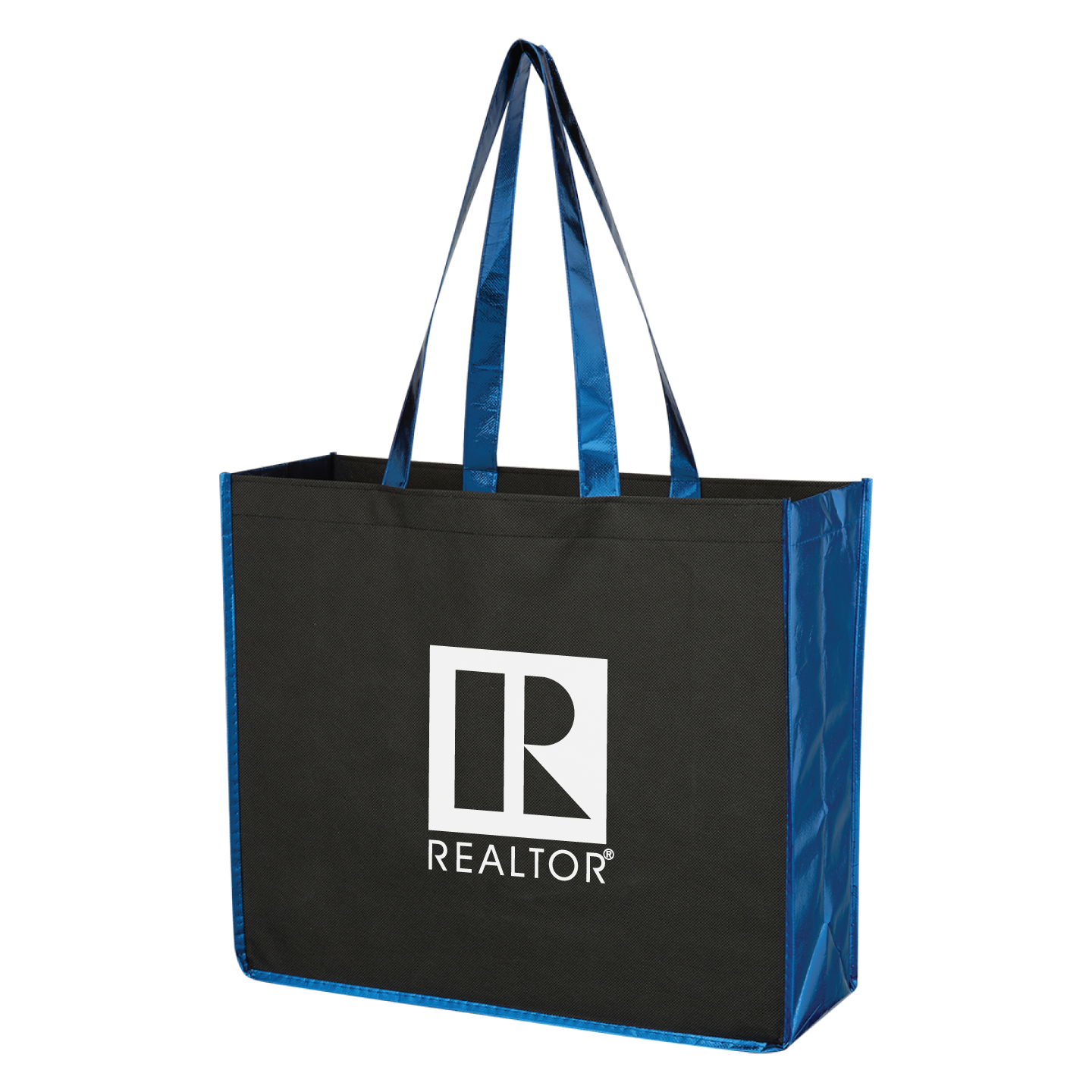 Metallic Accent Convention Tote Tote, Bag, Convention, Literature, Metallic, Shiny, Cheap, Value