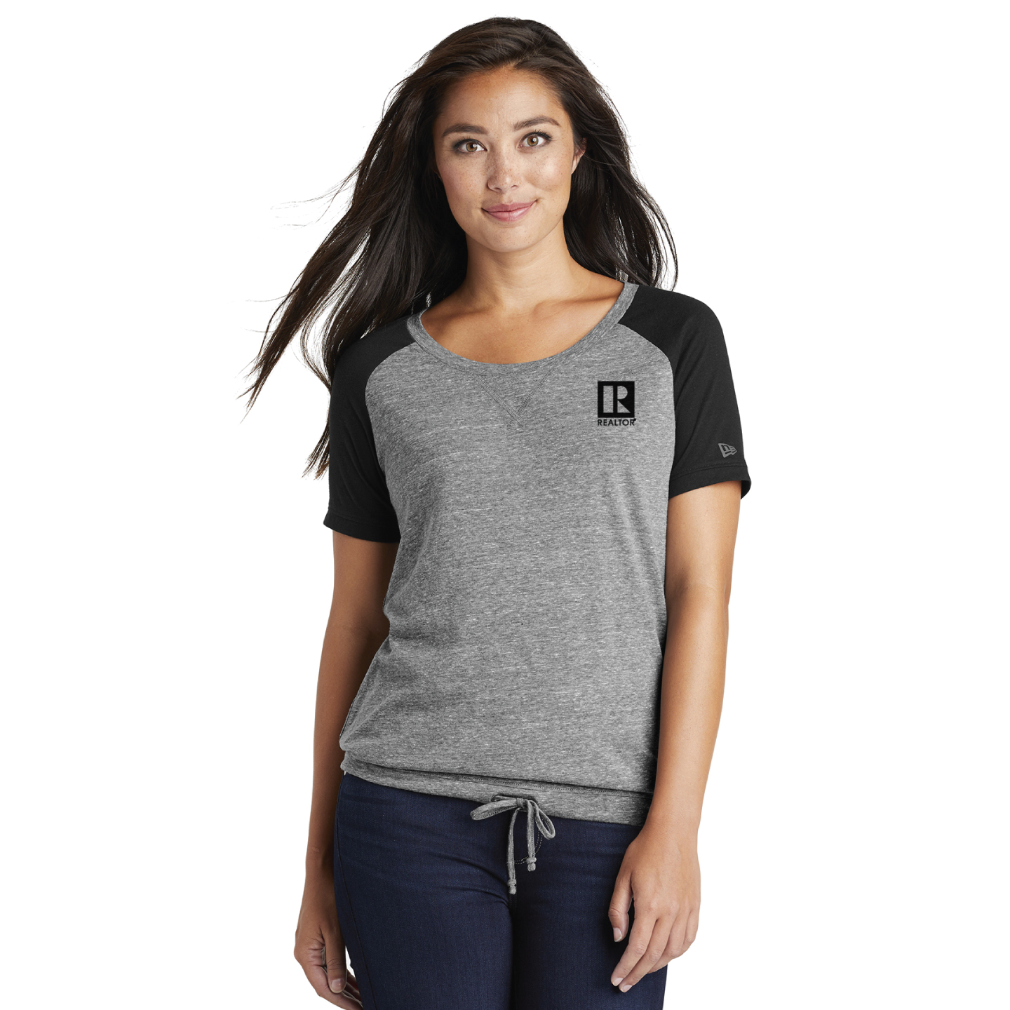 New Era ® Ladies Tri-Blend Performance Cinch Tee Tee, T-shirt, Tees, T-shirts, Flattering, Sport, Fitness, New Era