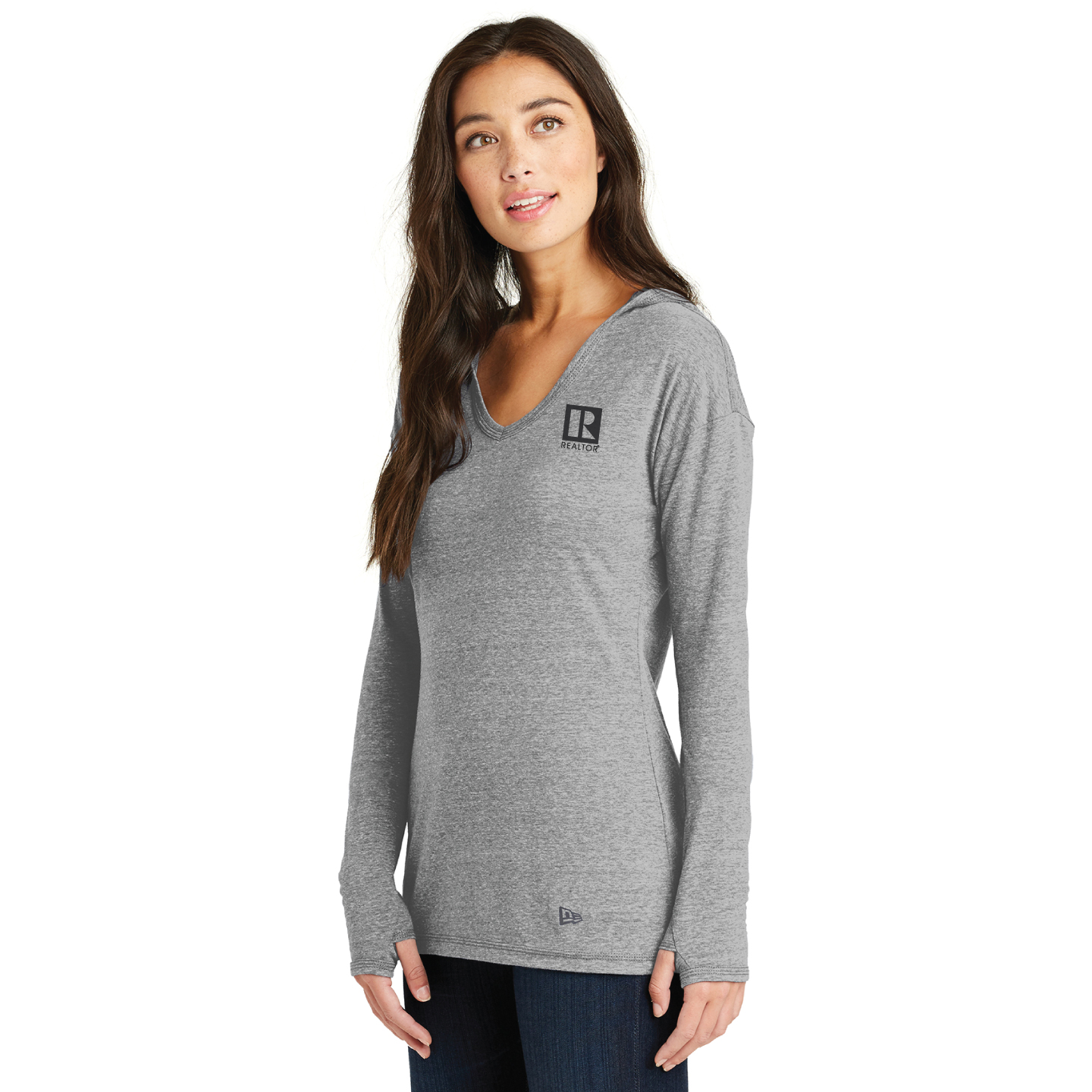 New Era® Ladies Performance Pullover Hoodie Tee - RCL4102