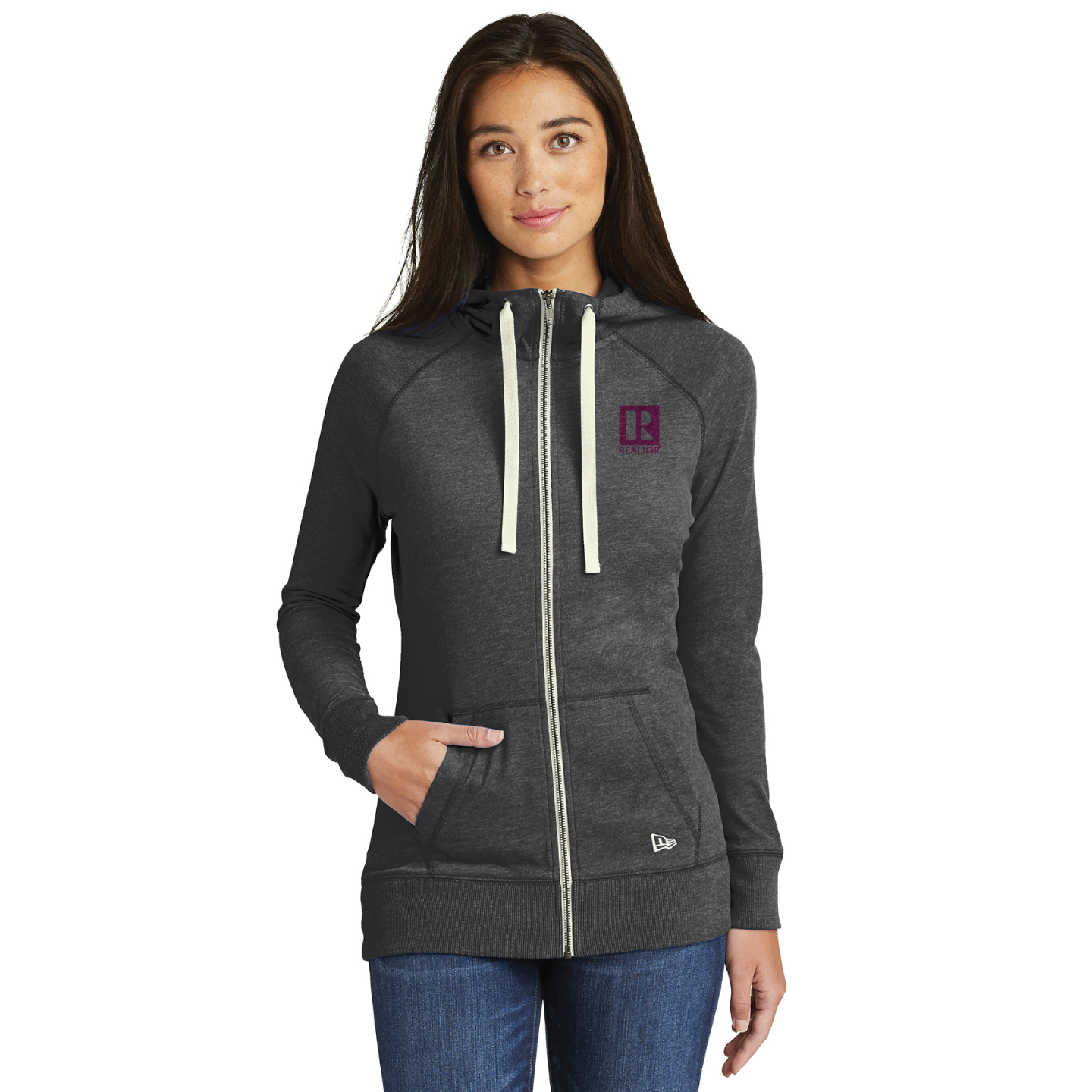 New Era® Ladies Sueded Cotton Blend Full-Zip Hoodie - RCL4106