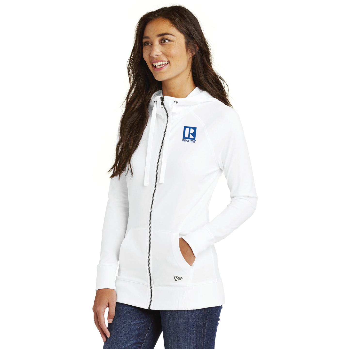 New Era® Ladies Sueded Cotton Blend Full-Zip Hoodie hoodies, zip, ladies, news, eras, fleeces, jackets, Sport, Fitness, Casual