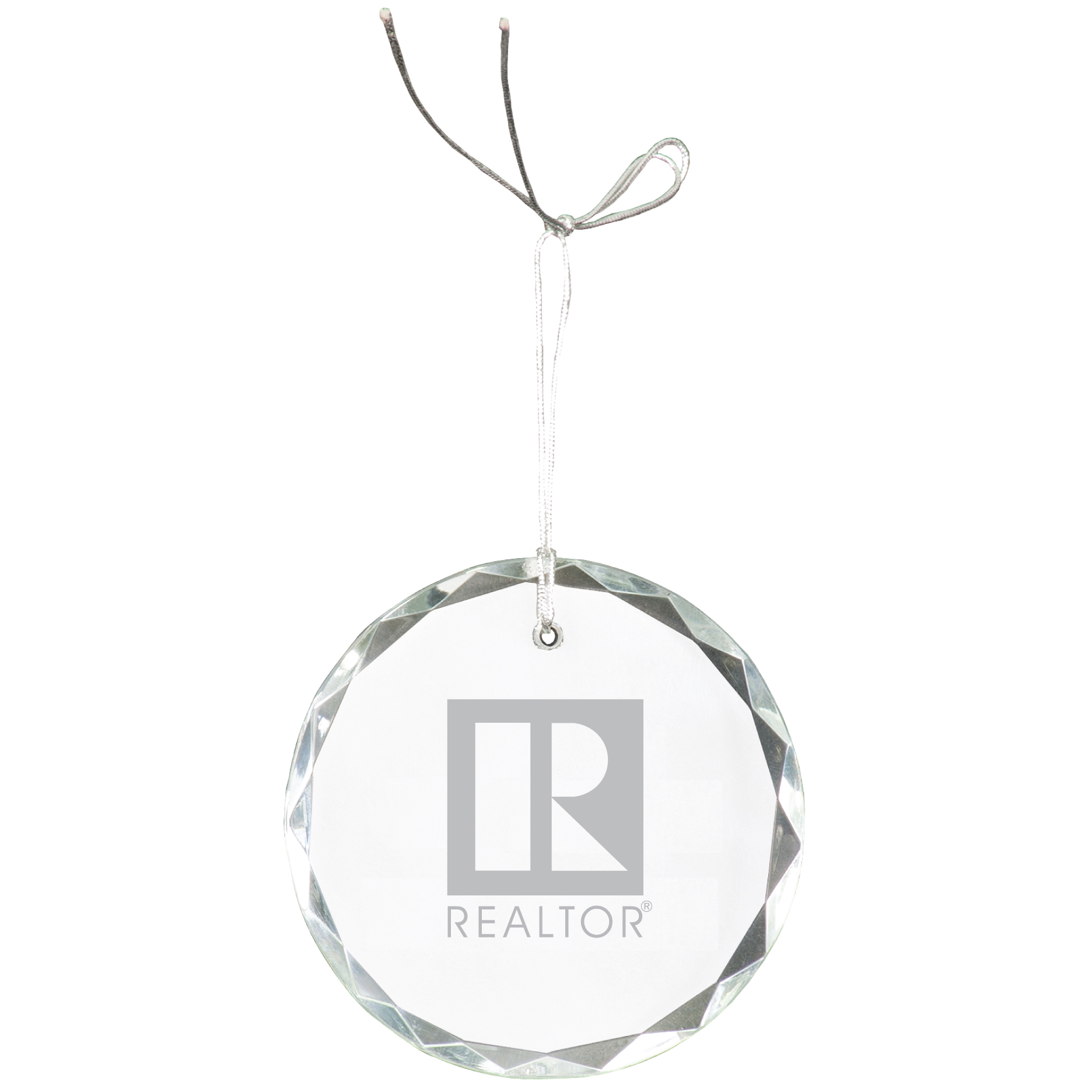 """Pick Your Logo"" Crystal Ornament Gifts, Holiday, Christmas, Custom, Customize, Crystal"