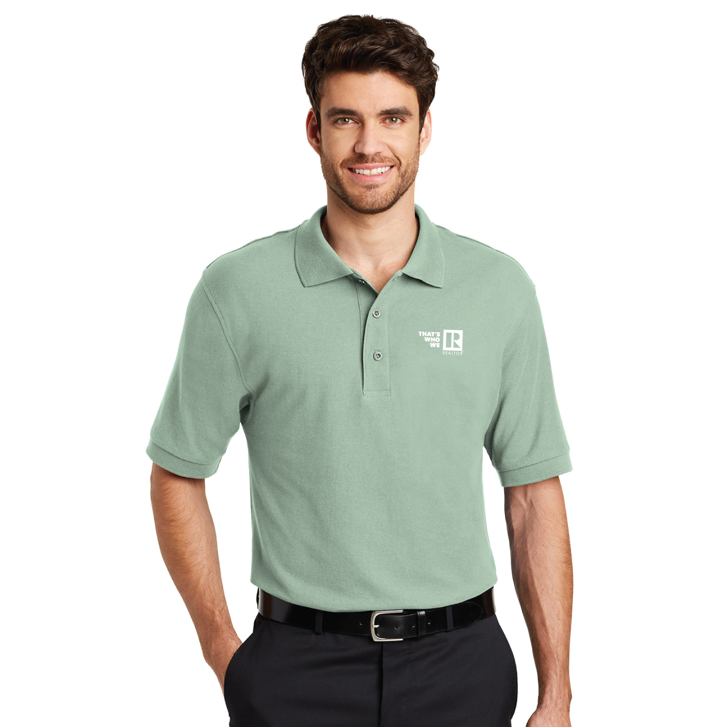 """Thats Who We R"" Mens Pique Polo Shirt twwr,ThatsWhoWeR,Thats,TWWR,ThatWho,ThatsWho,Twwr,Thats,Whos,We,Ares,Twwr,Thats,Whos,Ares,Golfs, Shirts, Collared, Polos, Plackets"