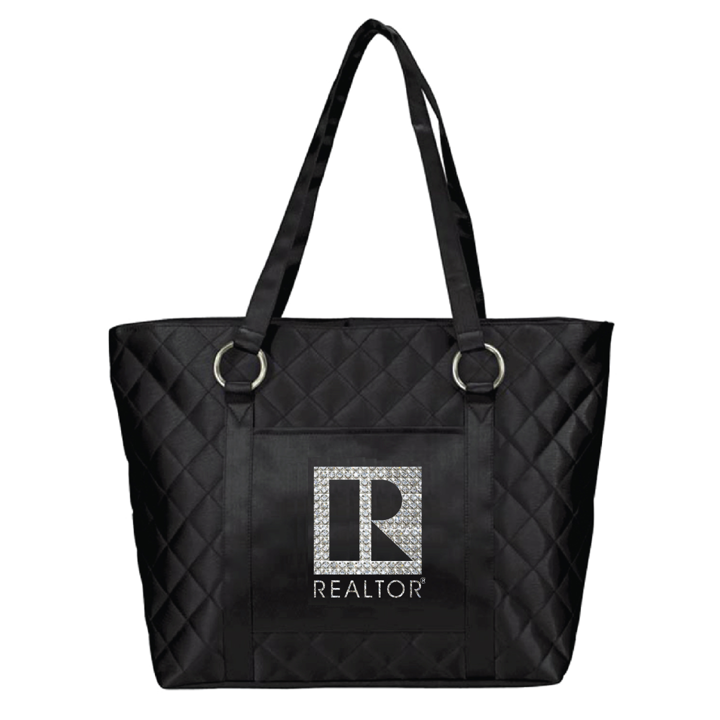 Quilted Rhinestone Bling Tote