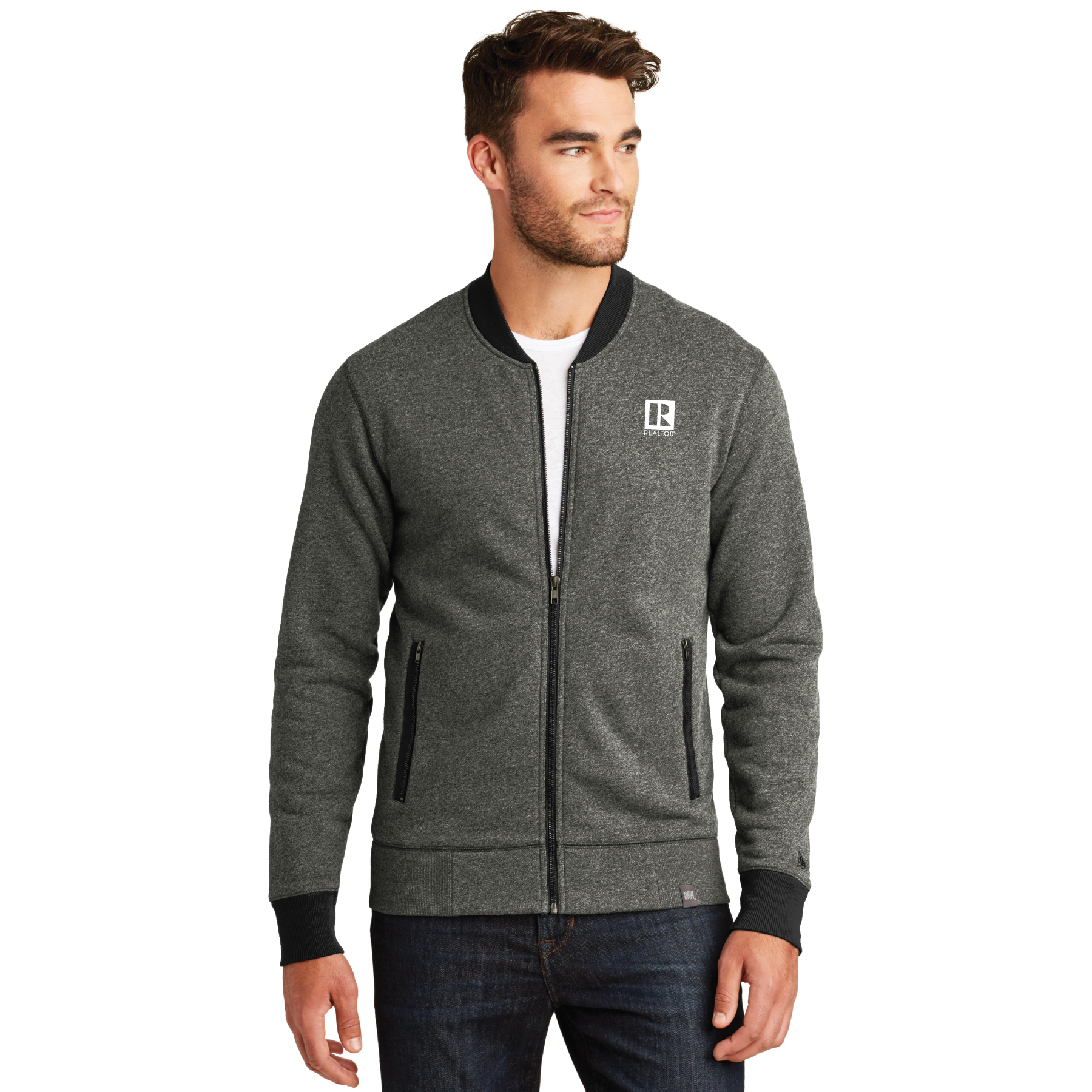 New Era French Terry Baseball Full-Zip french, terry, baseball, jackets, zip, zipper