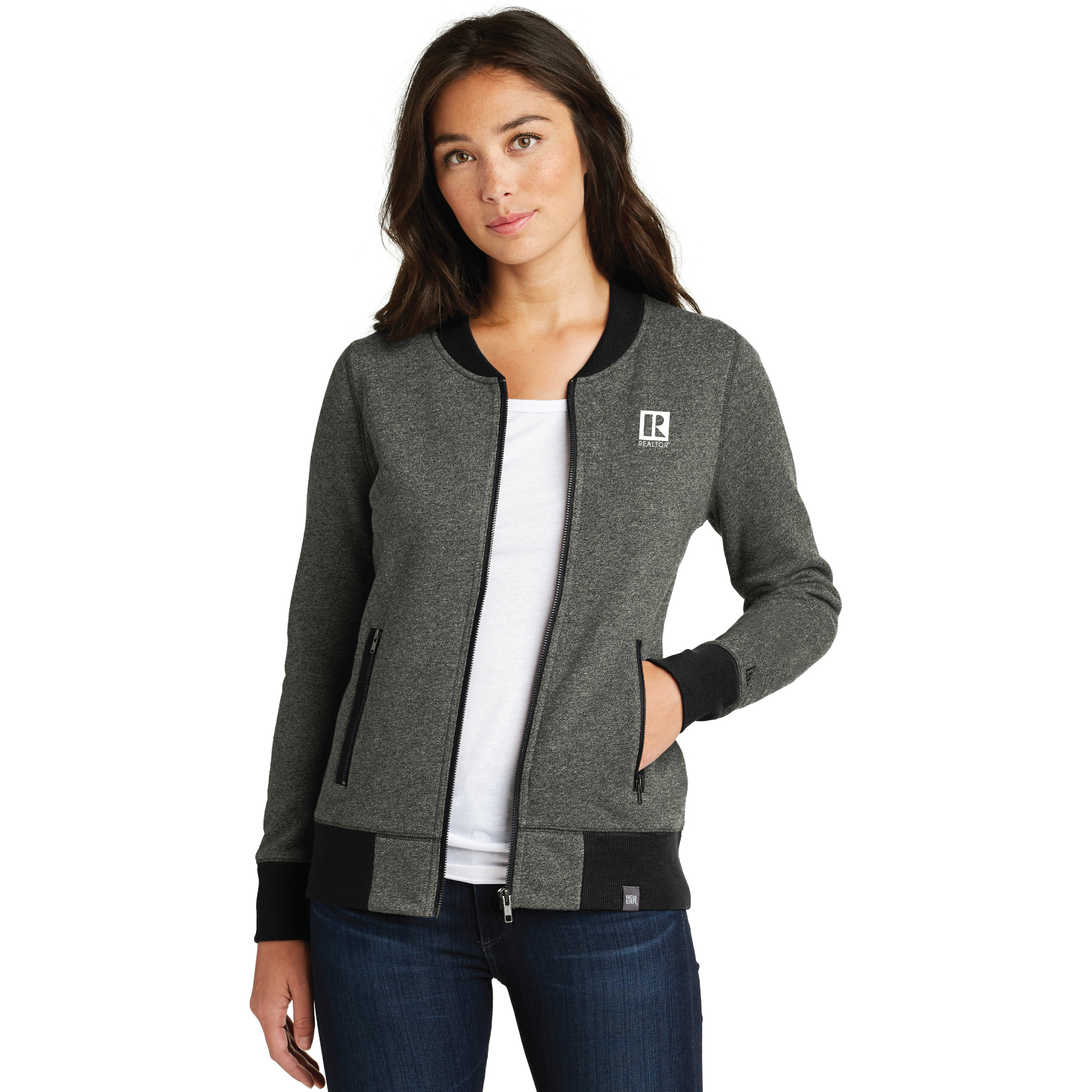 New Era Ladies French Terry Baseball Full-Zip french, terry, baseball, jackets, zip, zippers, ladies