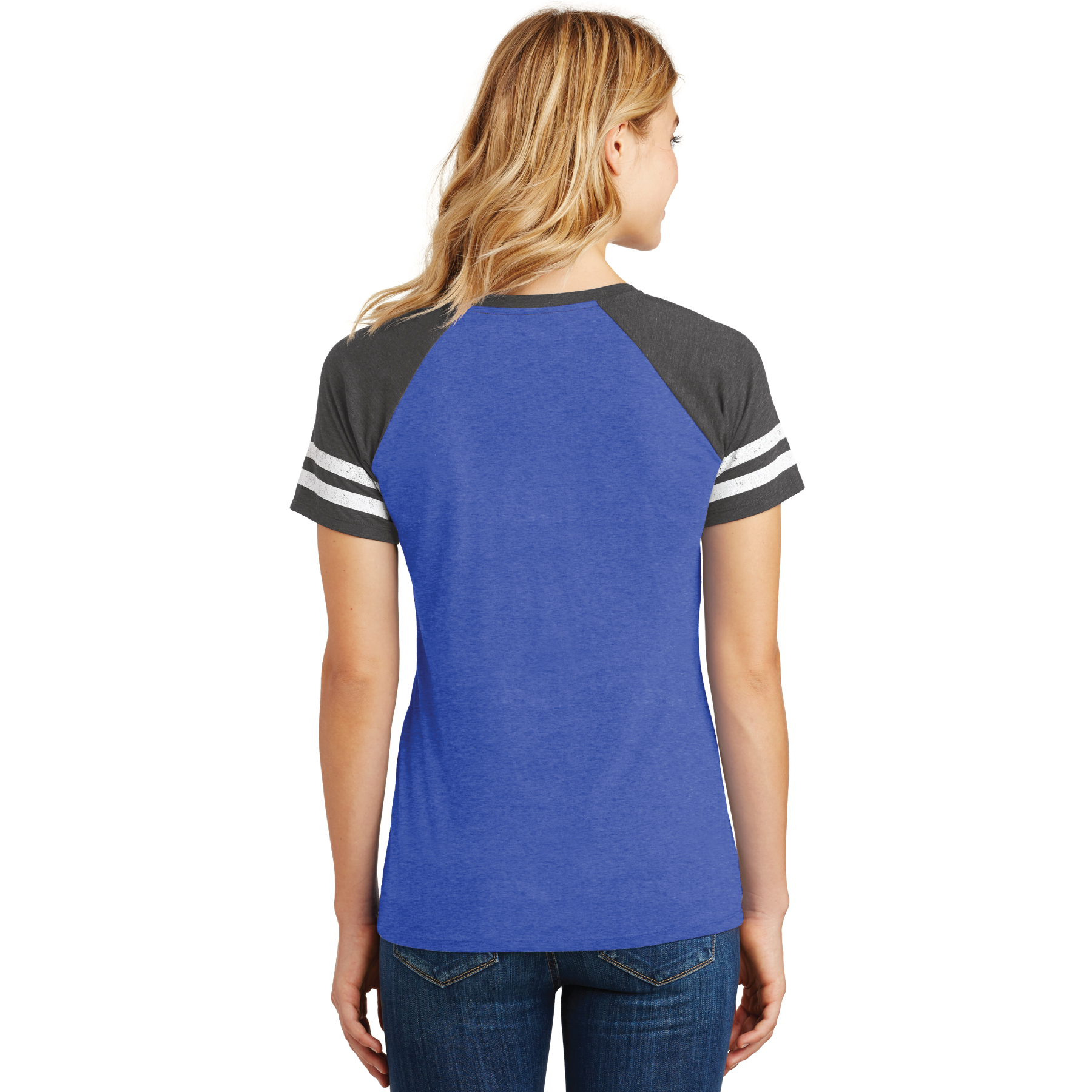 Ladies Game Day V-Neck Tee Bling - RCL4096
