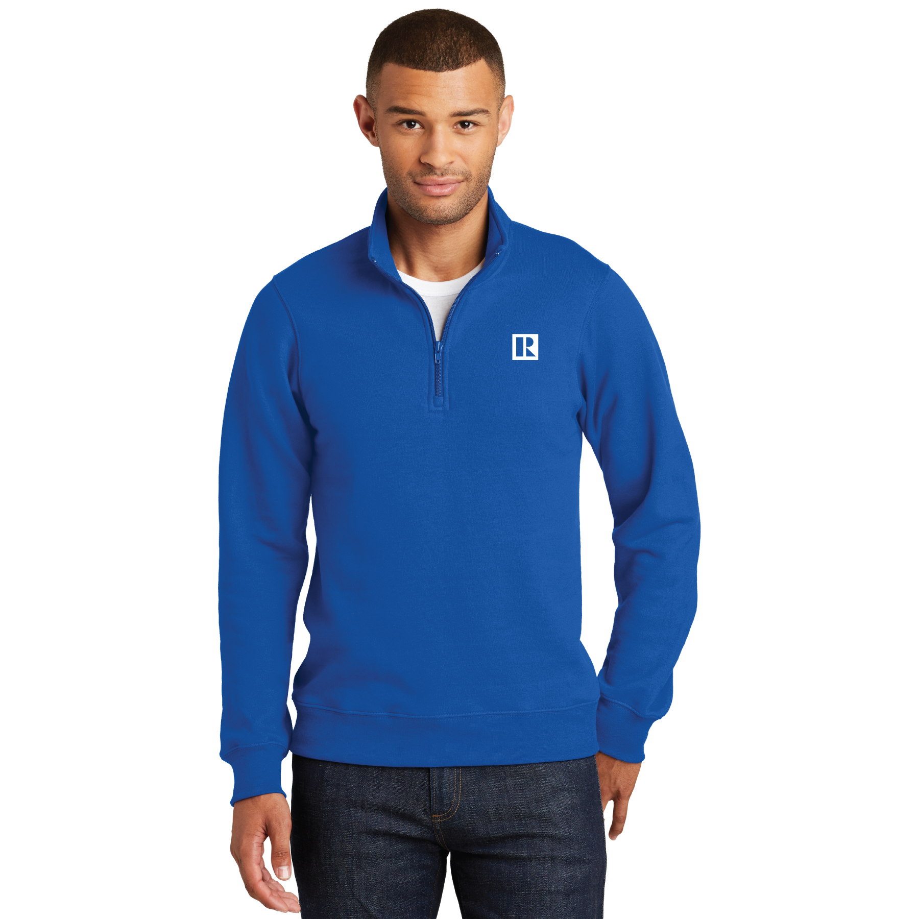 Mens Fleece 1/4-Zip Pullover Sweatshirt Pullovers,Fleeces,Long Sleeves
