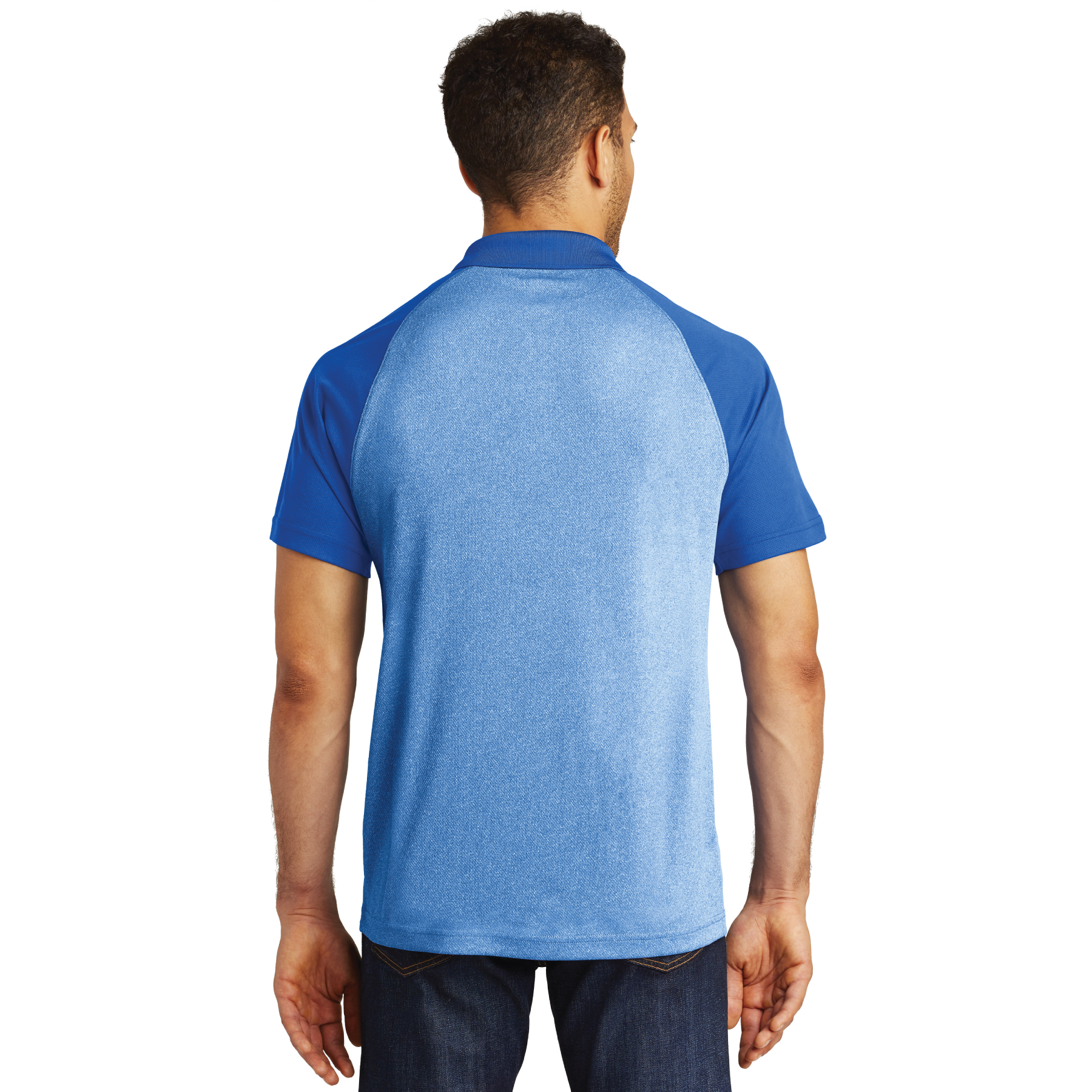 Men's PosiCharge RacerMesh Raglan Heather Block Polo - RCG4662