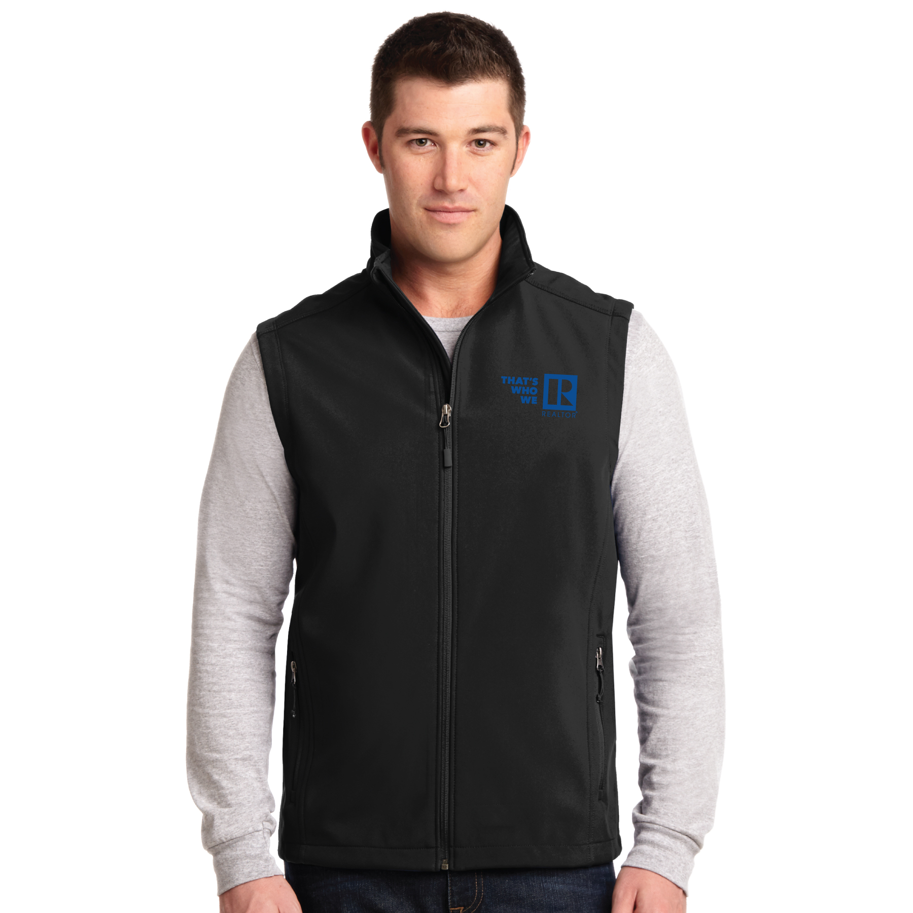 """Thats Who We R"" Mens Core Soft Shell Vest Twwr,Thats,Whos,Wes,Ares,soft, shells, vests, mens"