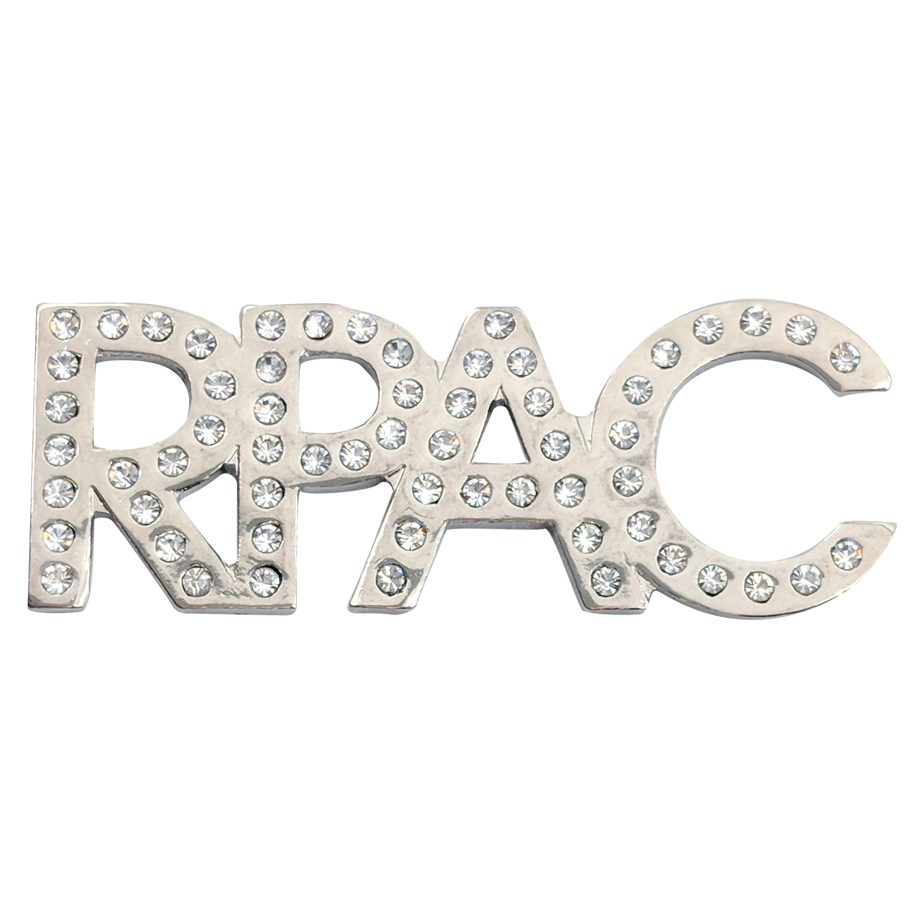 Rhinestone RPAC BLING Pin RPAC, rhinestones, bling, pins, magnets, women, silvers, shimmery, shiny, sparkles, politicals, actions, committees, realtor® party, parties, realtors
