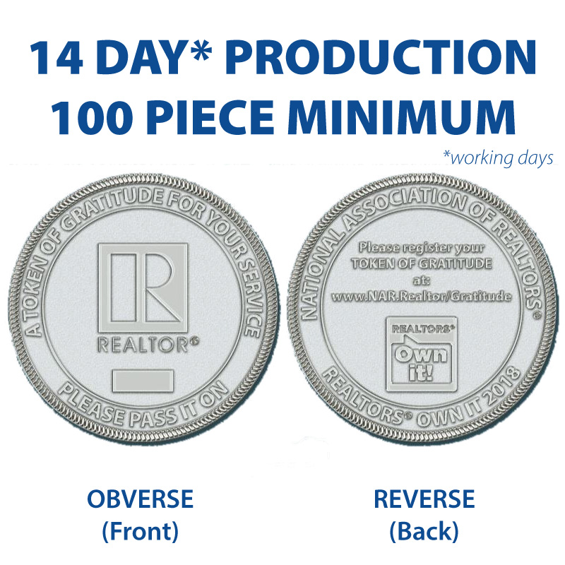 REALTORS® Own It! Gratitude Coins (Special Order) Coins,Medallions,Challenges,Owns,Its,Money