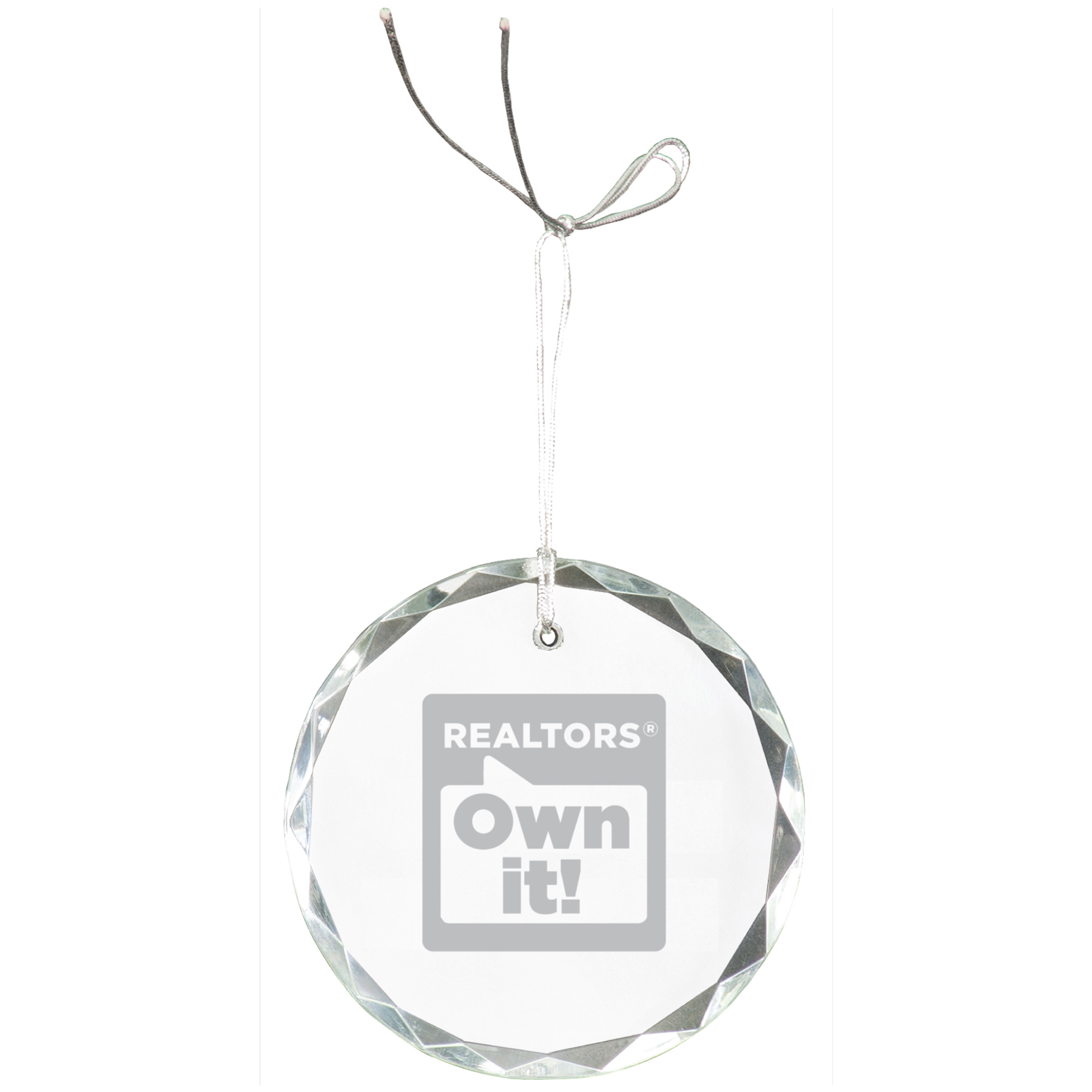 REALTORS® Own It! Crystal Ornament Gifts,Holidays,Christmas,Customize,Crystals,Ornaments,ROI,its,owns