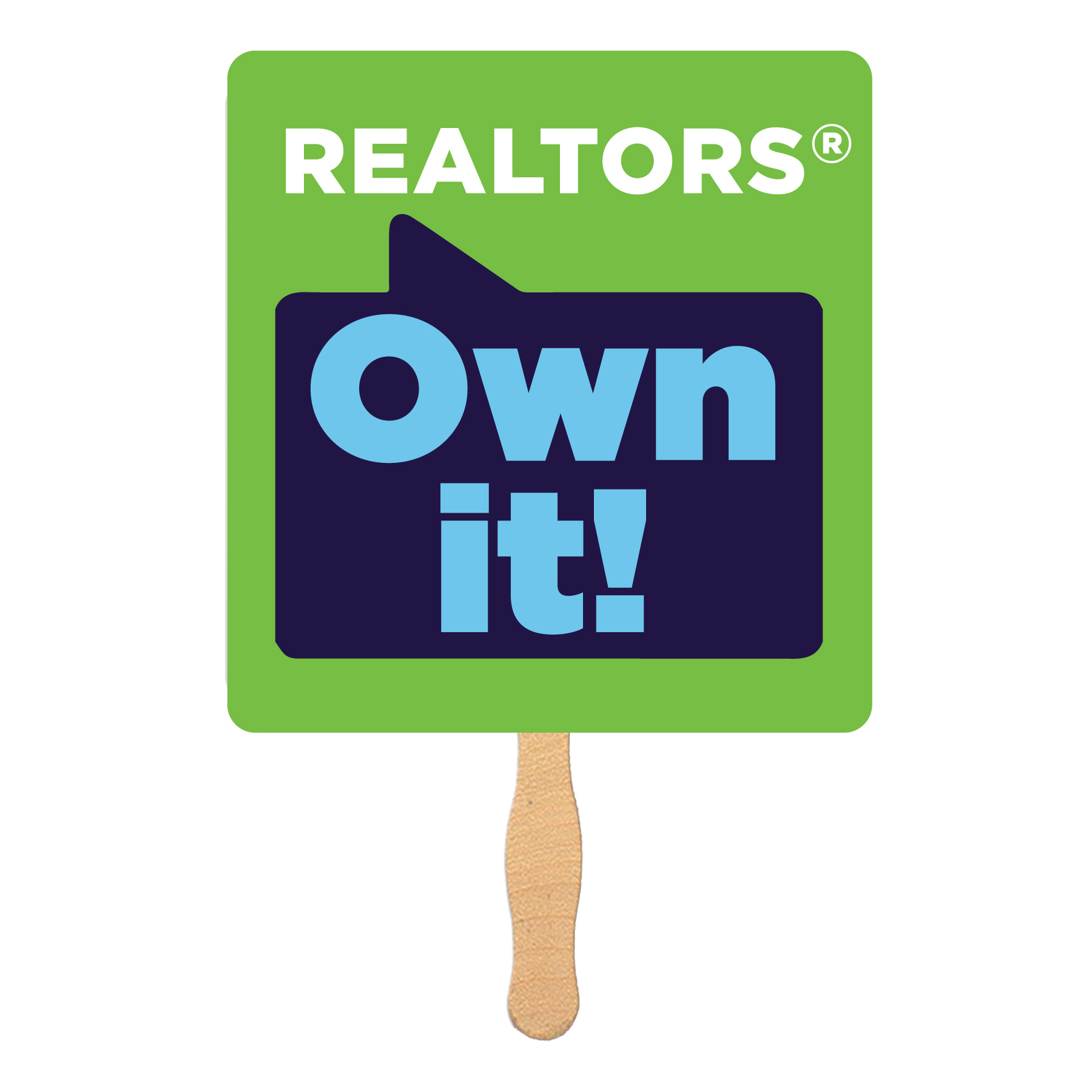 REALTORS® Own It! Hand Fans (Special Order) Hands,Fans,Sticks,Waives