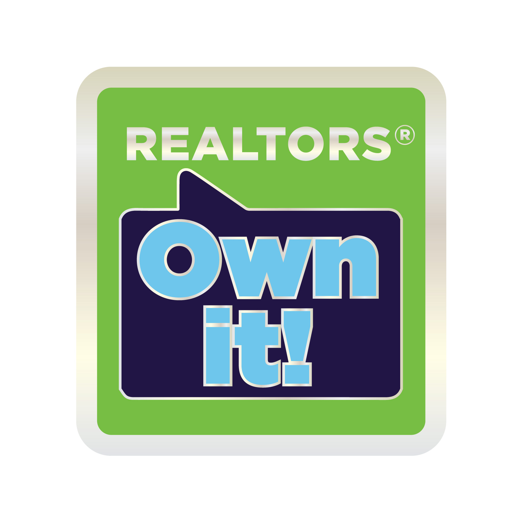 REALTORS® Own It! Lapel Pin pins, magnetic, realtors, lapels, sticks, homes, for sale, sales, officials, sponsors, different, gold, goldtones,ROIS,ROI,owens,owns,its