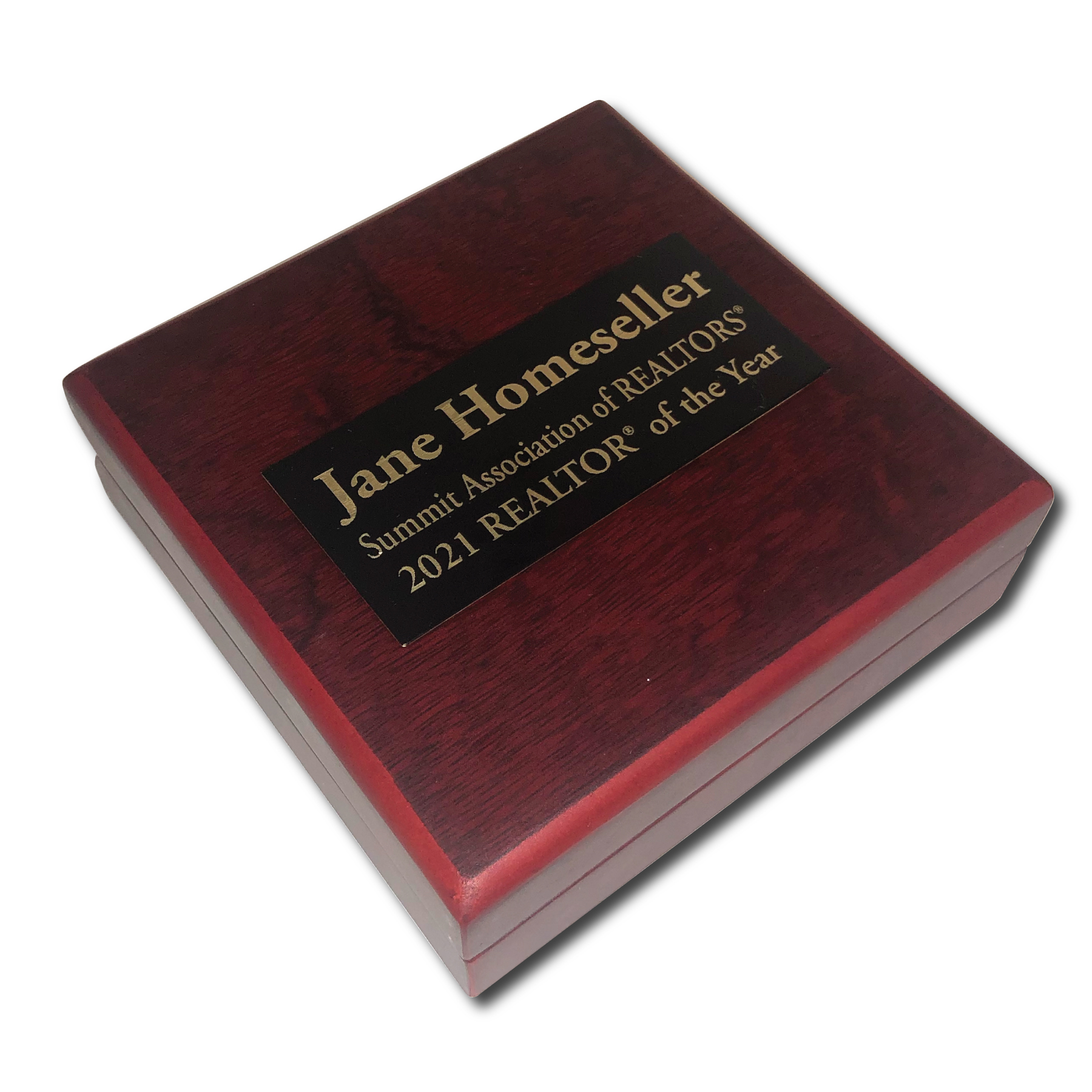 Rosewood Presentation Case ROTY,REALTORS,YEARS,PINS,CASES,ENGRAVED,Boards,Presidents,Coins