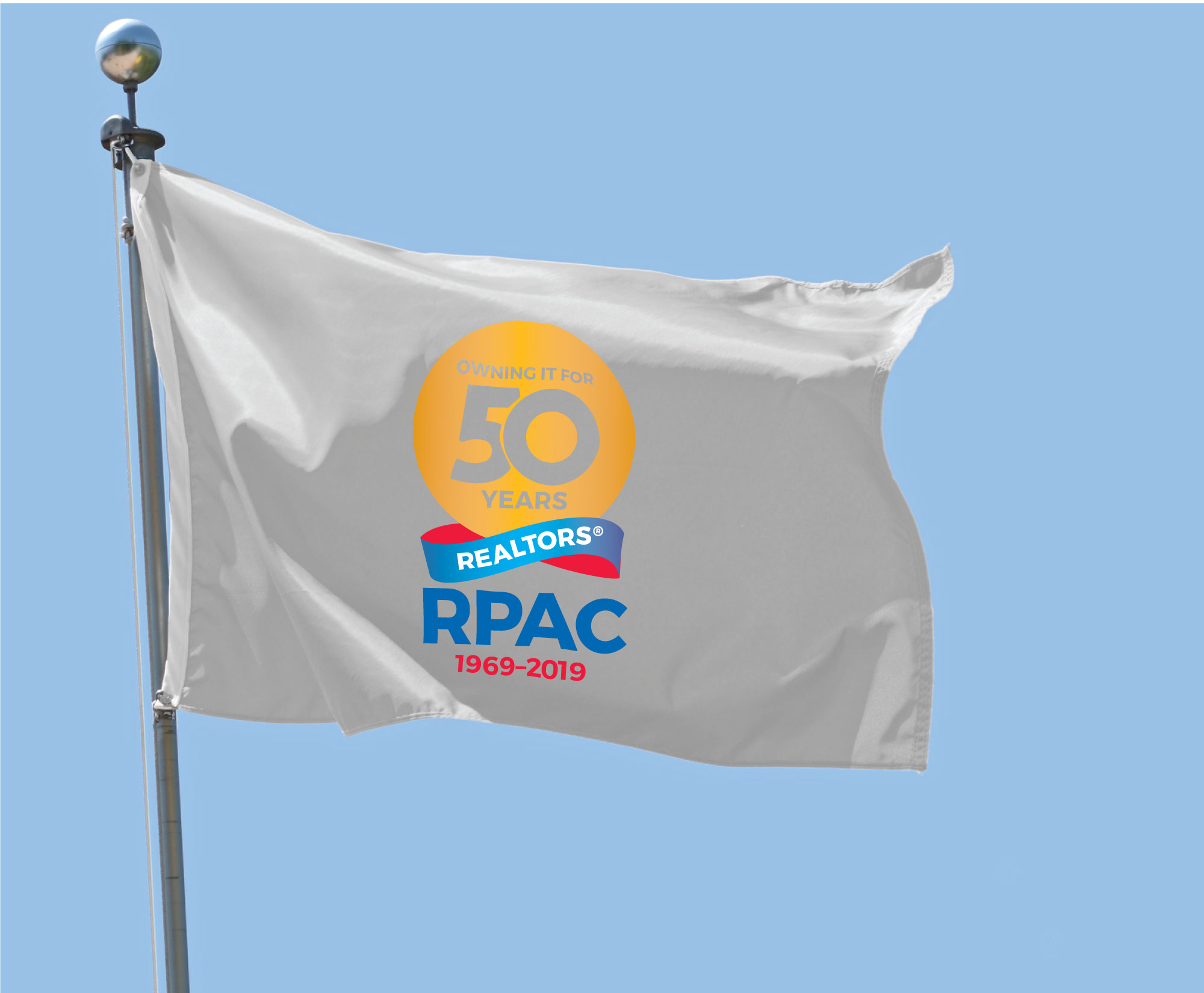RPAC 50th Anniversary Nylon Flag Flags,RPACS,Realtors, Partys, banners