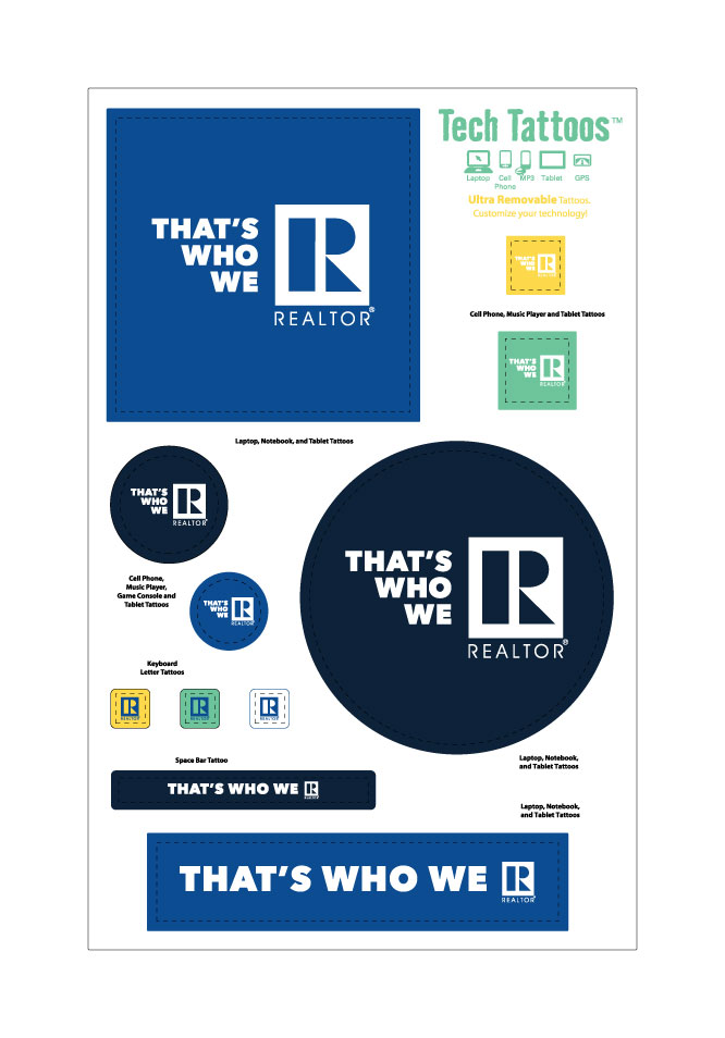 """That's Who We R"" Tech Tattoo Stickers, Decals, Laptop, Gift. Thats what we are, Board, Association. Tattoo"