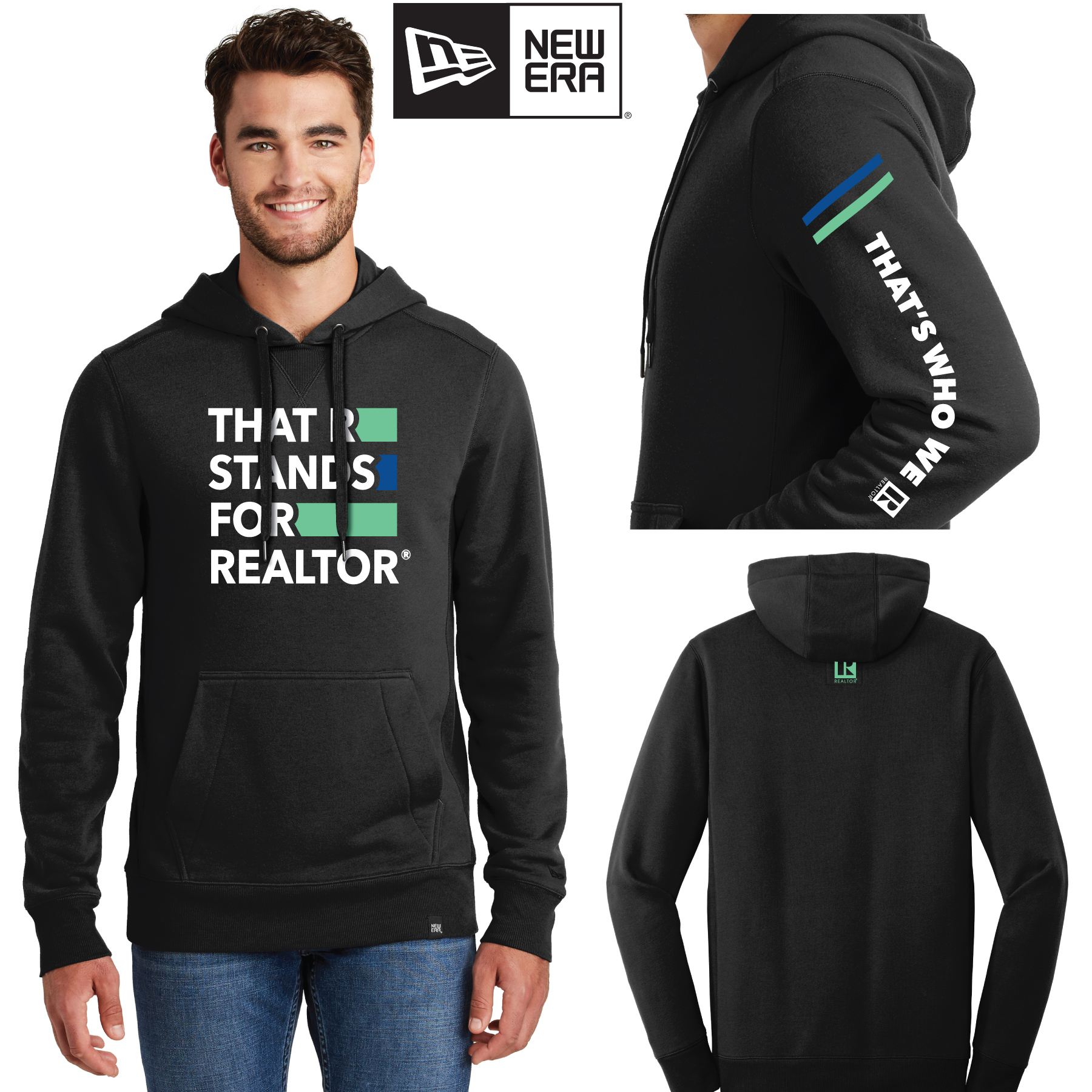 """That R Stands for REALTOR®"" New Era® French Terry Hoodie Sweatshirt twwr,ThatsWhoWeR,Thats,TWWR,ThatWho,ThatsWho,Twwr,Thats,Whos,We,Ares,Hoodies,TWWR,Hoods,Sweats,Shirts,Sweatshirts,Necks"