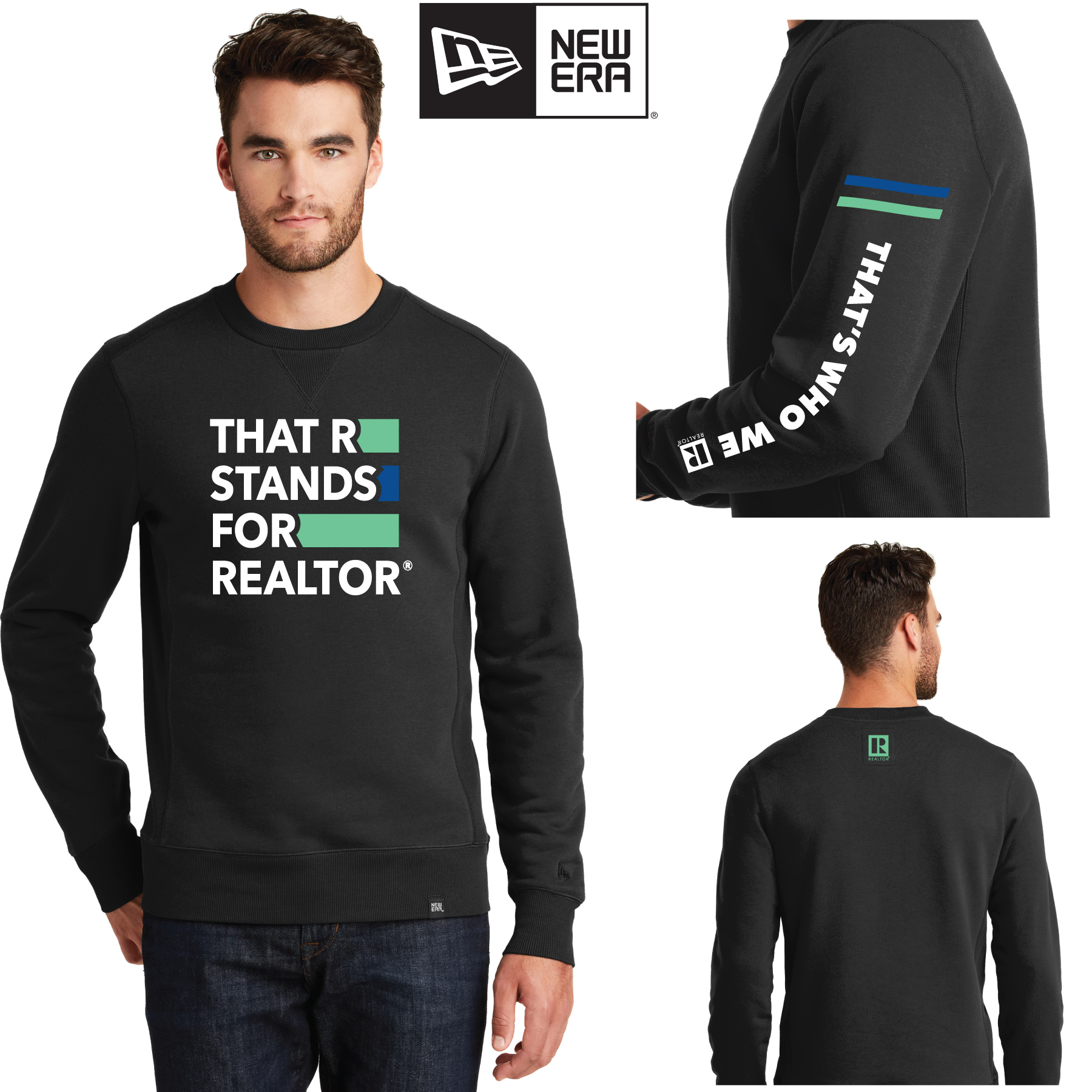 """That R Stands for REALTOR®"" New Era® French Terry Sweatshirt twwr,ThatsWhoWeR,Thats,TWWR,ThatWho,ThatsWho,Twwr,Thats,Whos,We,Ares,TWWR,Sweats,Shirts,Sweatshirts,Necks"
