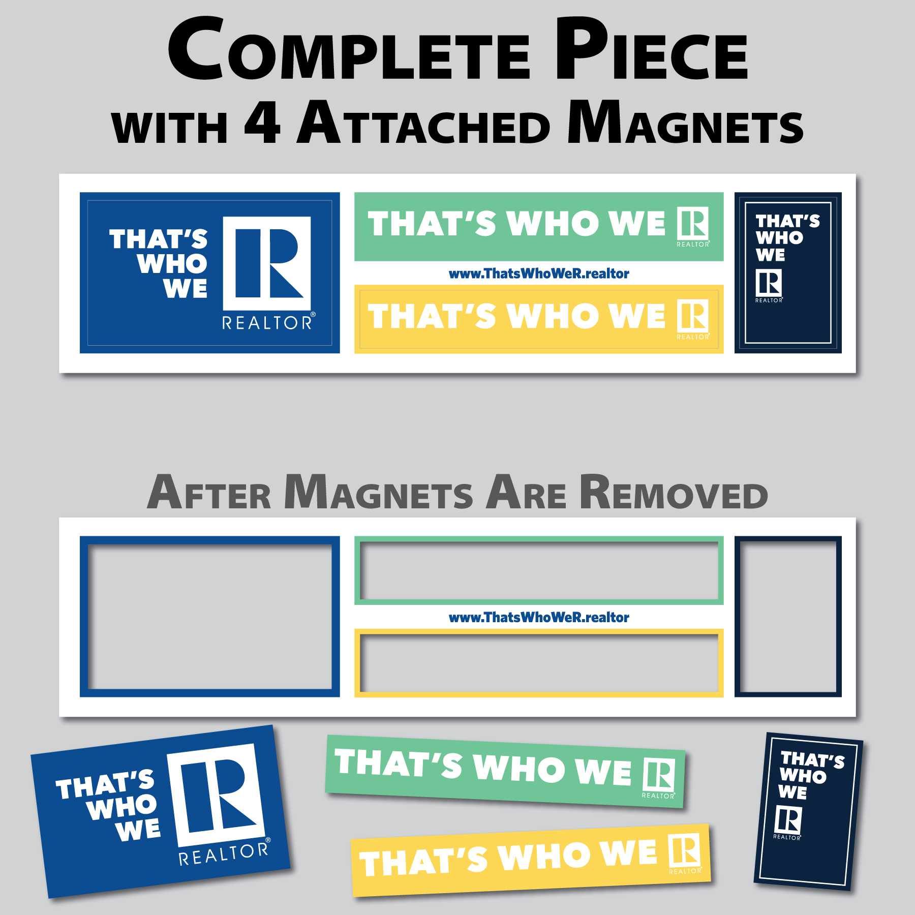 """That's Who We R"" Pop-it Magnet Strip Twwr,Thats,Whos,We,Ares,Magnets,Magents,Mags,Stickies,Stickys"