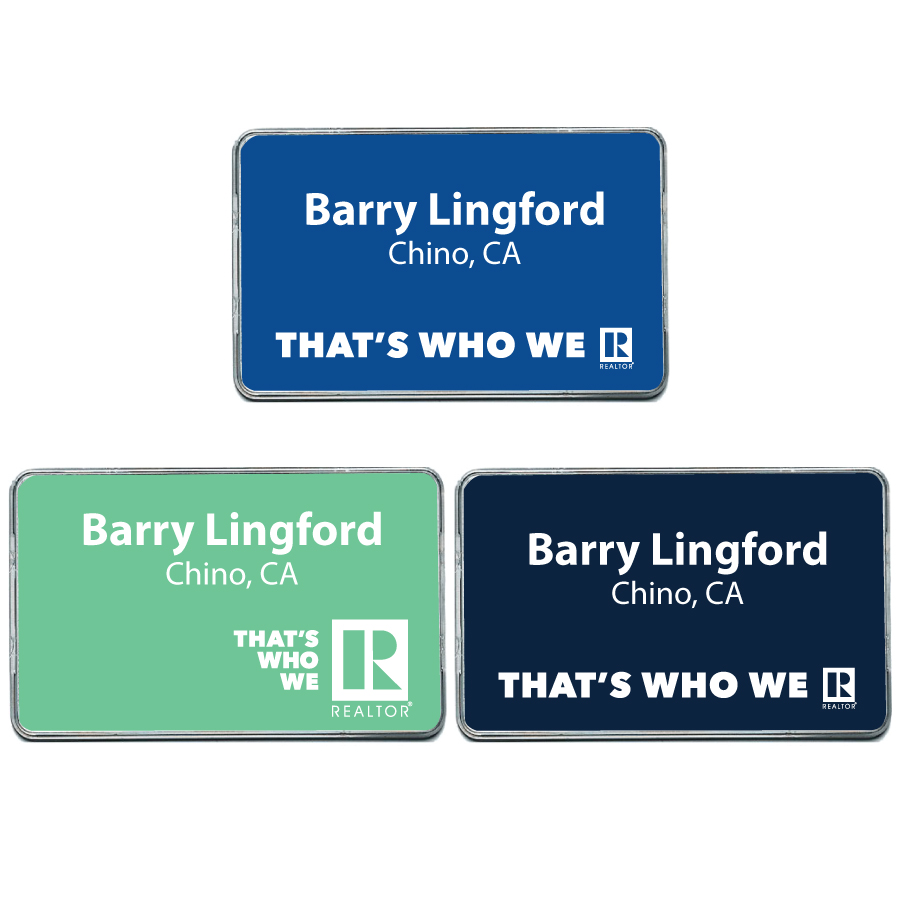 """That's Who We R"" Classic Name Badge - RTS5146"