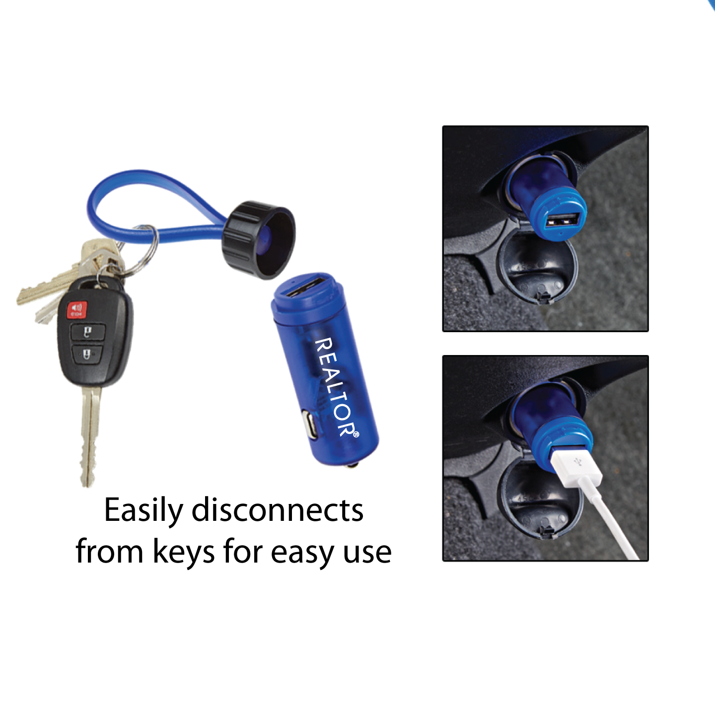 USB Car Charger Key Strap - RTS4710