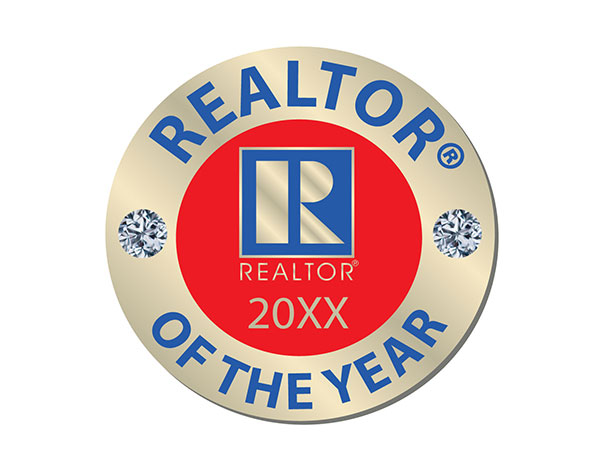 REALTOR Of the Year Pins 2014, 2015, 2016, 2017, 2018, 2019, 2020, 2021, 2022, 2023,pins, realtors, years, ROTY, stick pins, magnetics, best, circles, circular, dimaonds, gems, clear, rounds, no years, of the years,