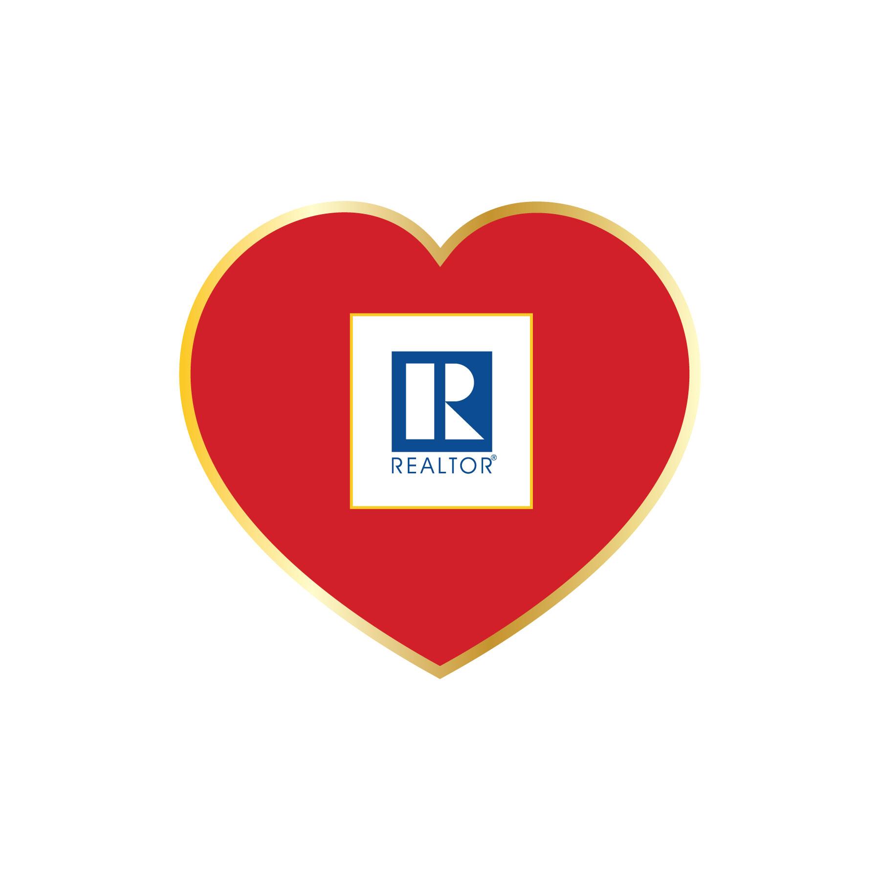 Printed Heart Pin