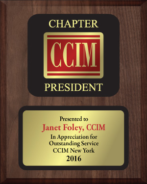 CCIM Walnut and Acrylic Presidents Plaque presidents, presidents, awards, plaques, gavels