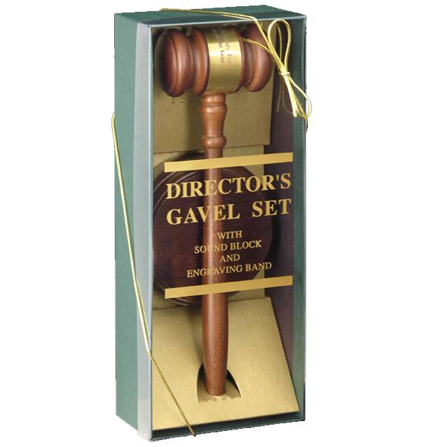 WCR Deluxe Walnut Gavel Set