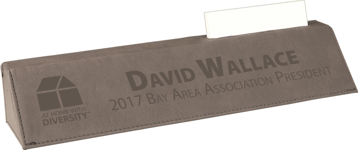"""Pick Your Logo"" Desk Wedge with Card Holder - BTO1013"