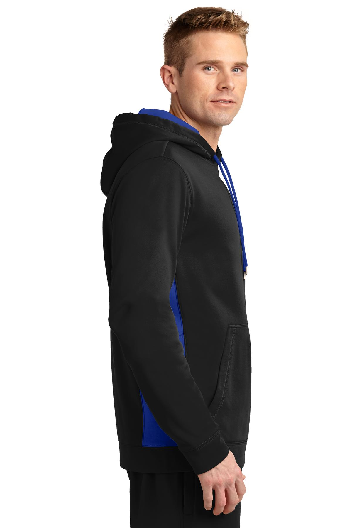 Fleece Colorblock Hooded Pullover - RCG1420
