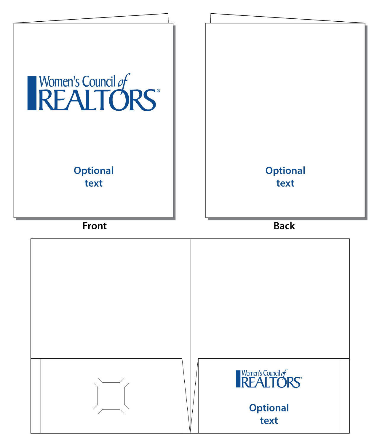 Folders - 1 Color - Matte Finish (WCR)