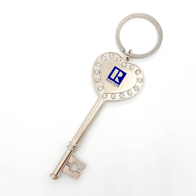 Heart And Key Shaped Keychain key, chain, heart, keychains, hearts