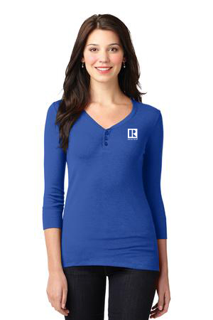 Ladies 3/4 Scoop Henley