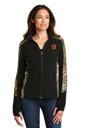 Ladies Camouflage Microfleece Full-Zip Jacket