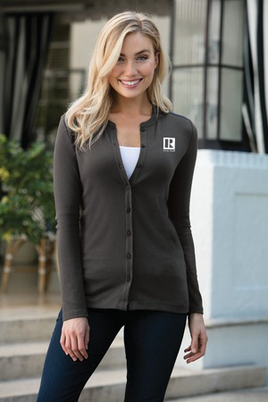 Ladies Concept Stretch Button-Front Cardigan - RCL4070