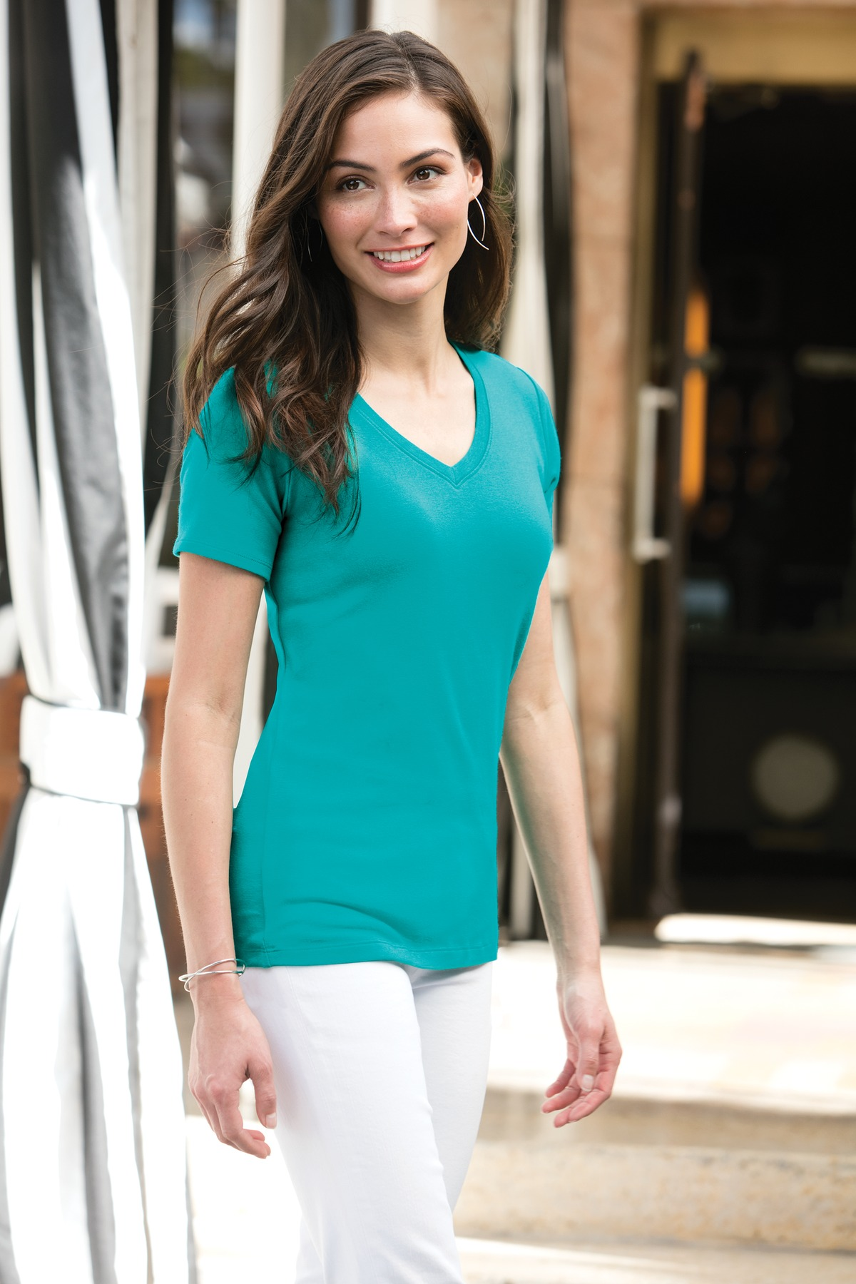 Ladies Concept Stretch V-Neck Tee - WCL4068
