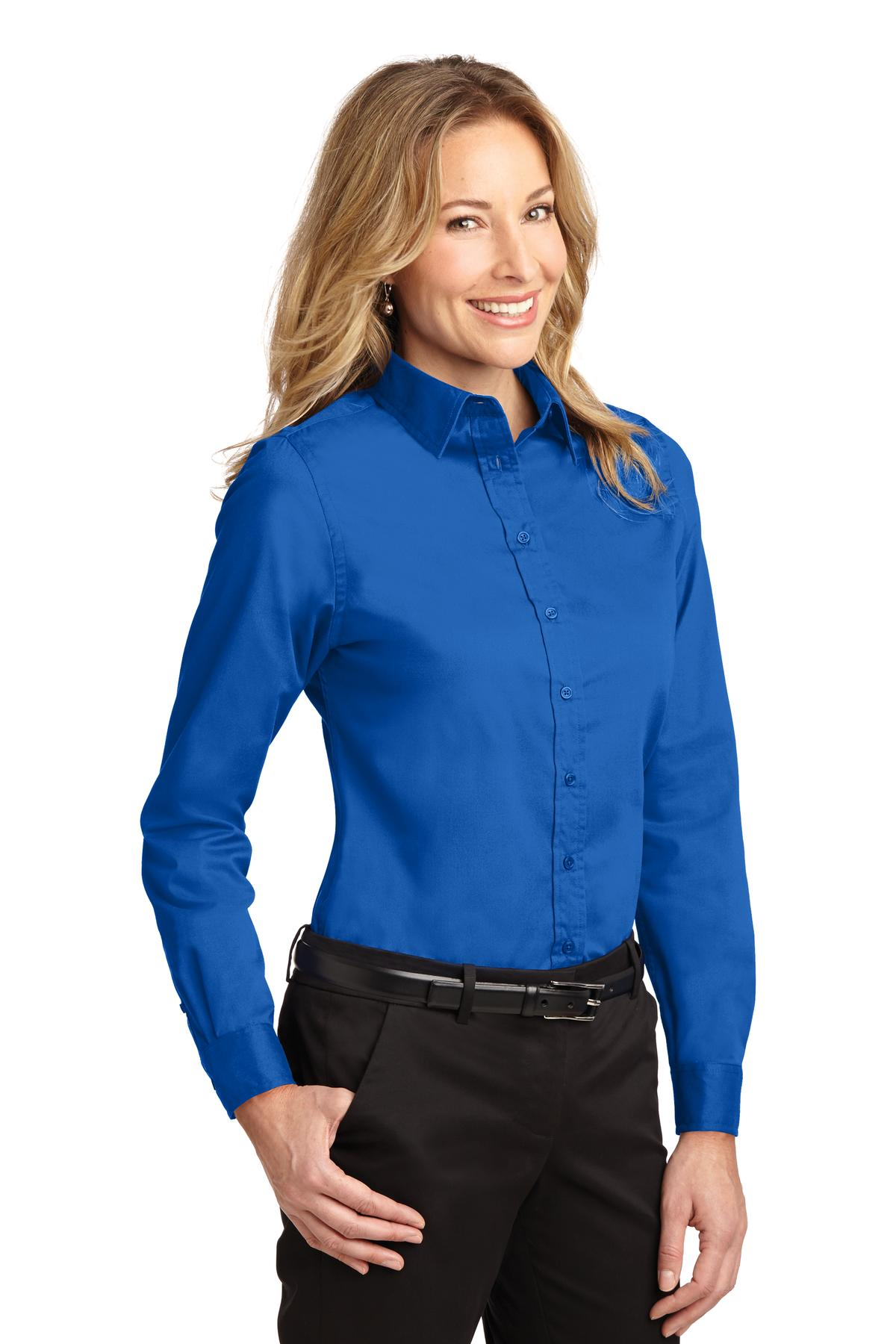 Ladies Easy Care Long Sleeve Twill Shirt - WCL2150