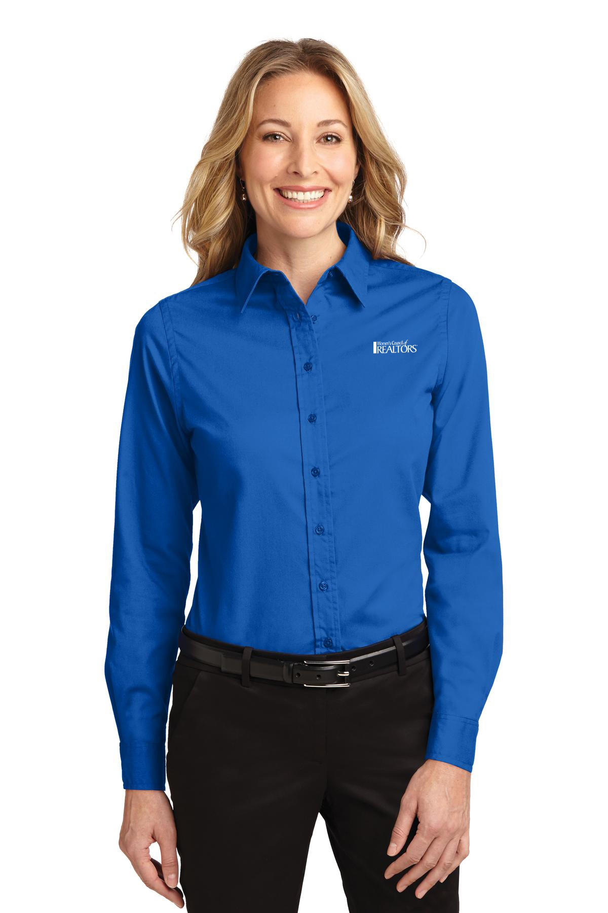 Ladies Easy Care Long Sleeve Twill Shirt Twills,ButtonDowns,Dress,Shirts,Collars,Tall,Woven